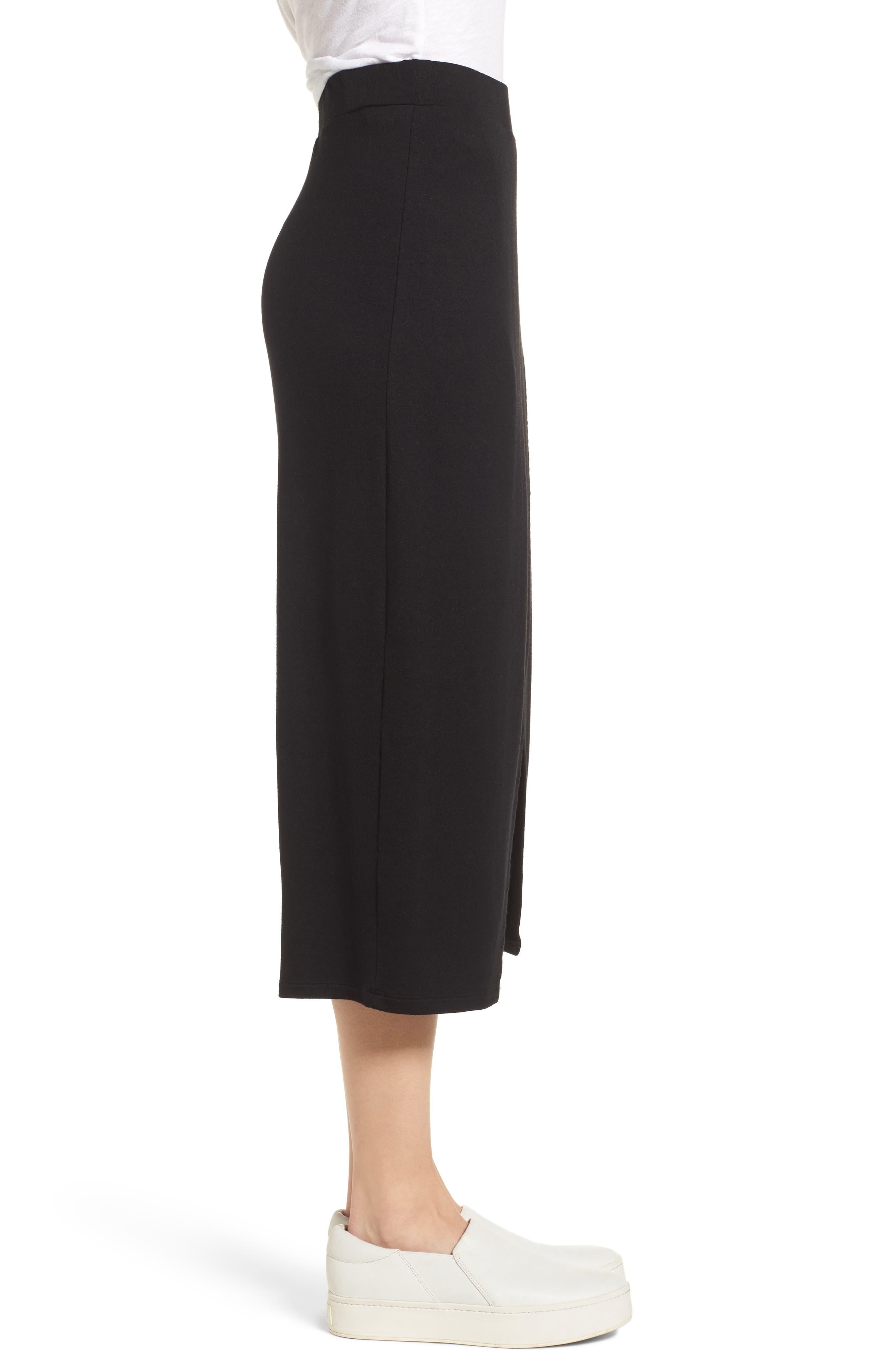 Faux Wrap Skirt,                             Alternate thumbnail 3, color,                             Black