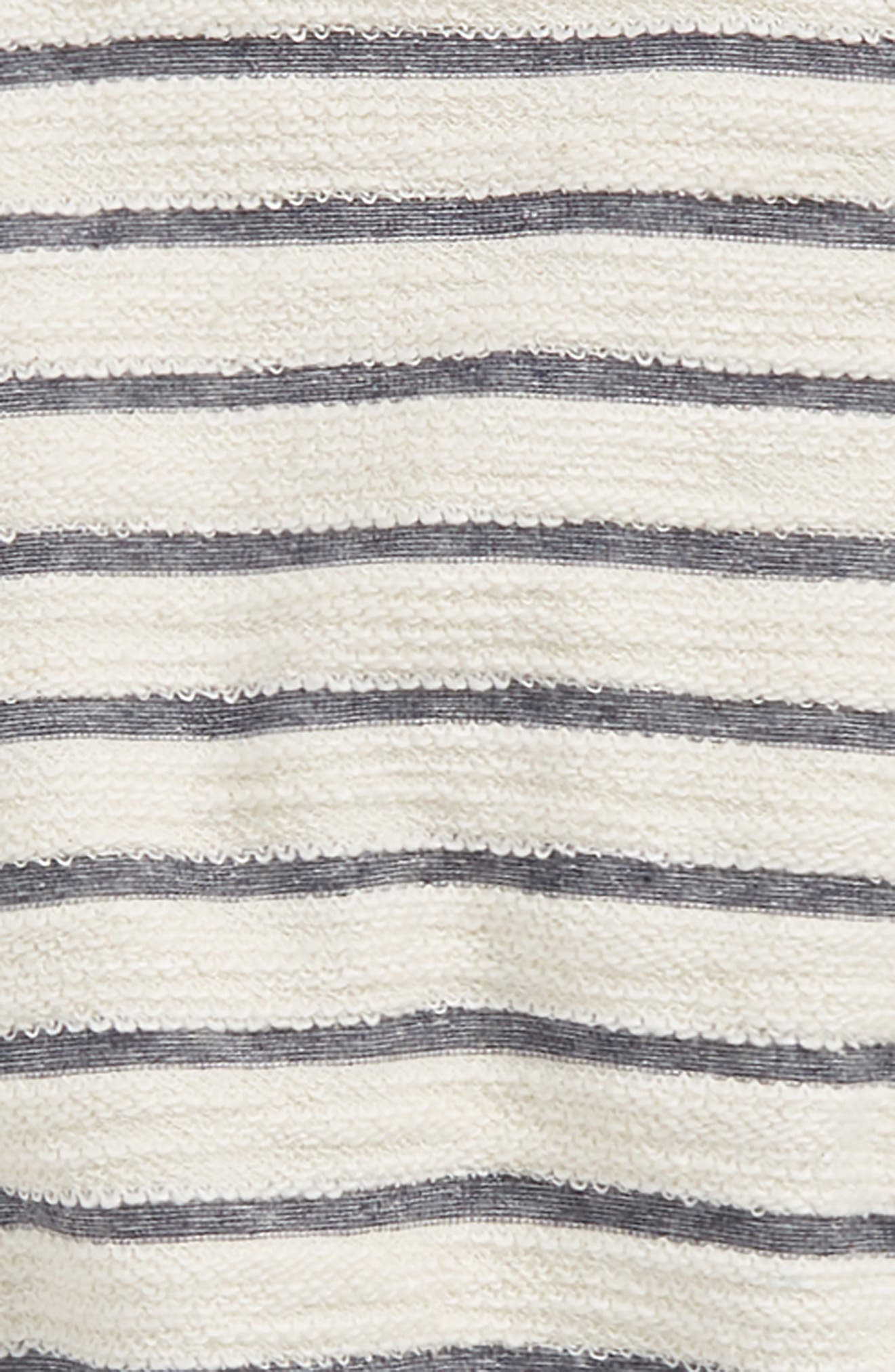 Sleep In Stripe Sweatshirt,                             Alternate thumbnail 2, color,                             White/ Blk Stripe