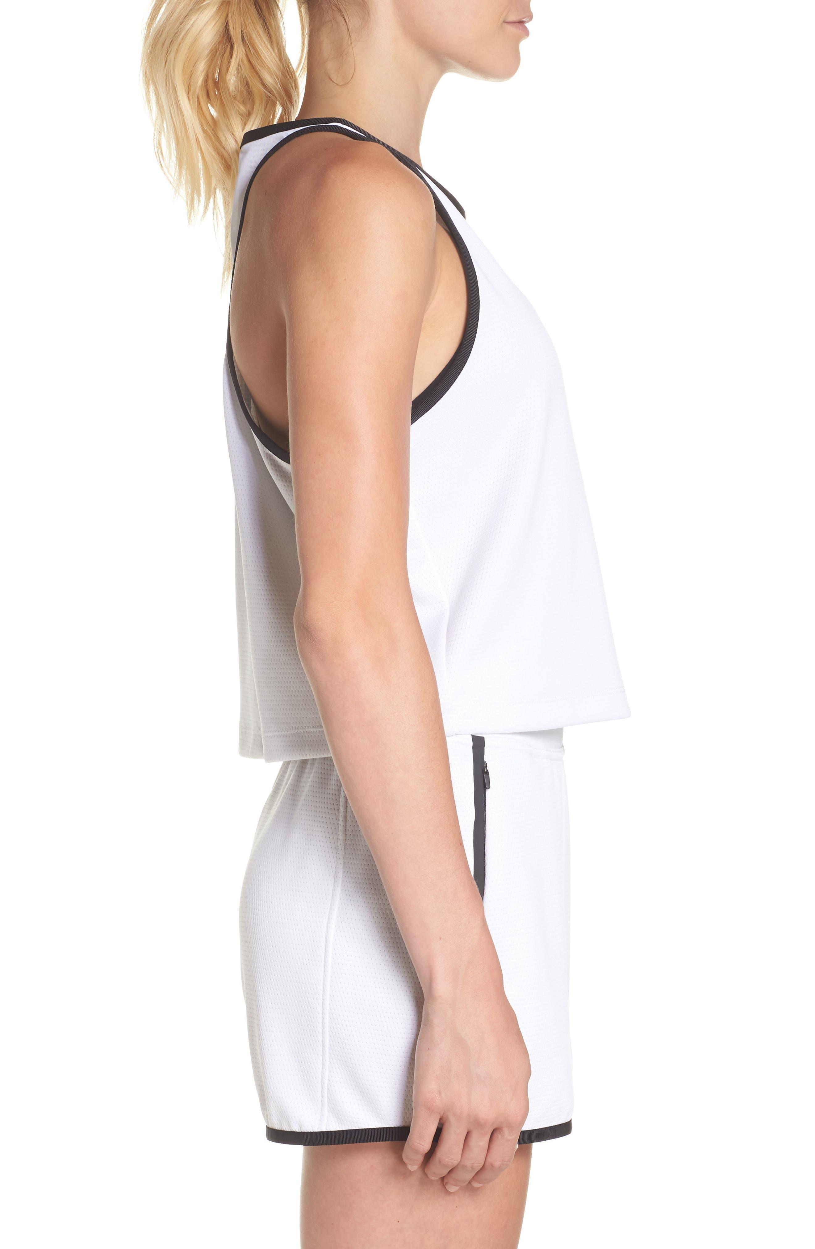 Sportswear Teched Out Tank,                             Alternate thumbnail 3, color,                             White/ Black