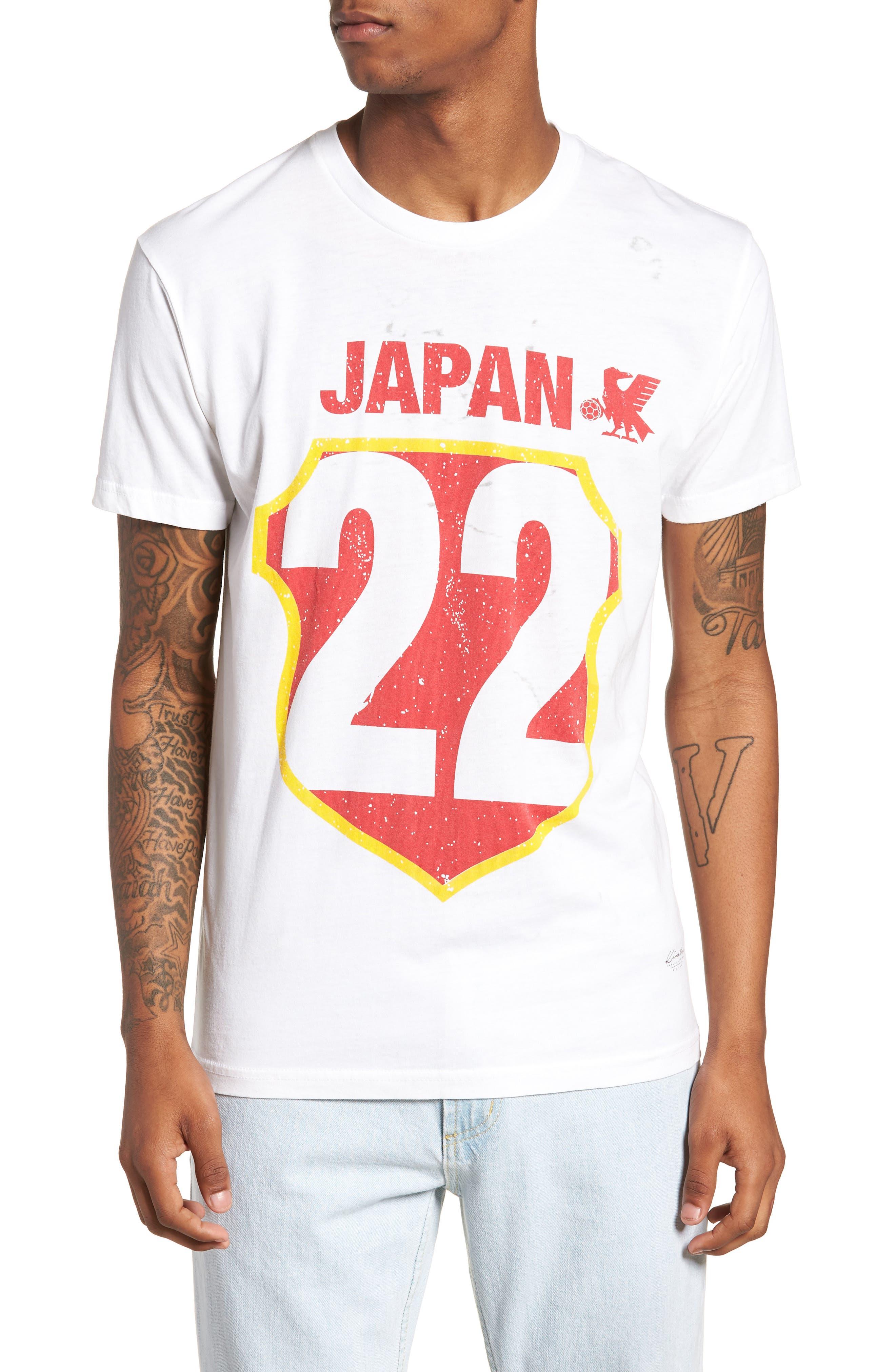 Japan Jersey T-Shirt,                             Main thumbnail 1, color,                             White