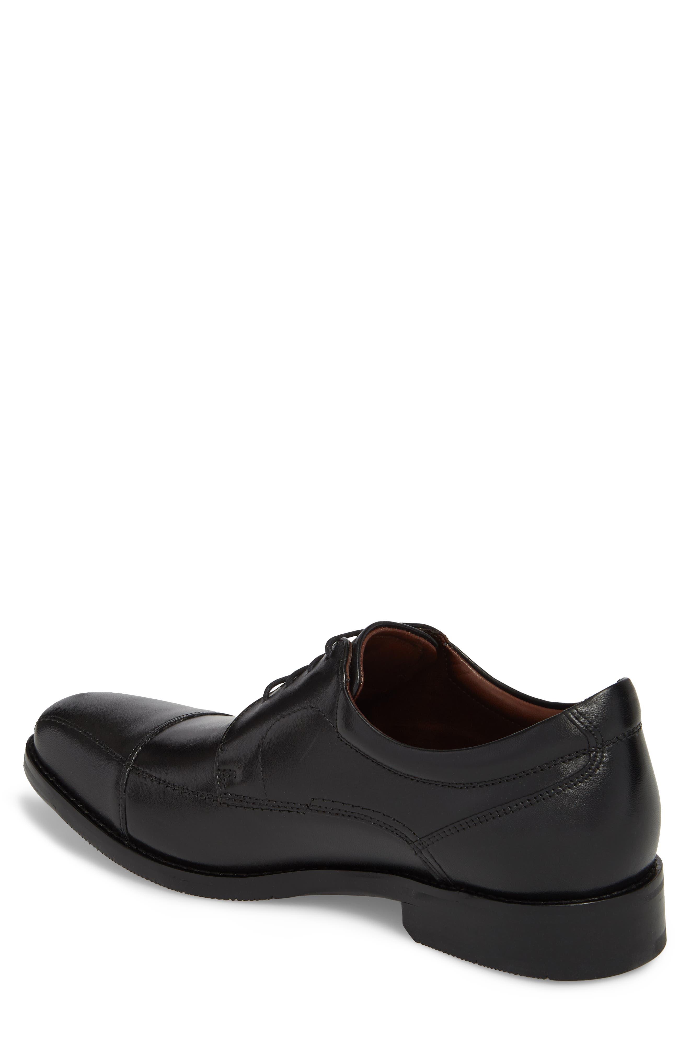 Bartlett Cap Toe Derby,                             Alternate thumbnail 2, color,                             Black Leather