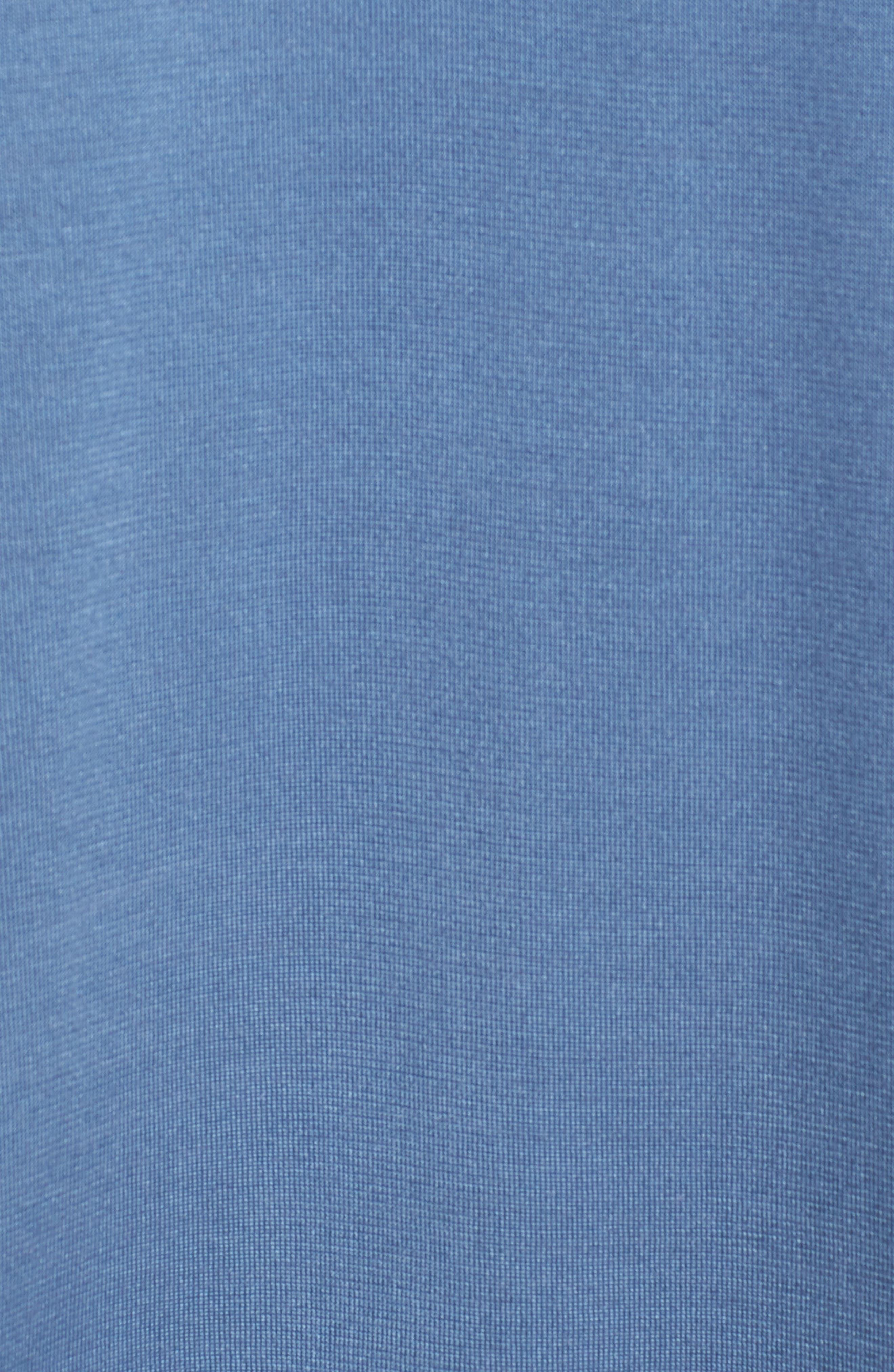 Incisive Silk & Cotton Short Sleeve Sport Shirt,                             Alternate thumbnail 5, color,                             Iris