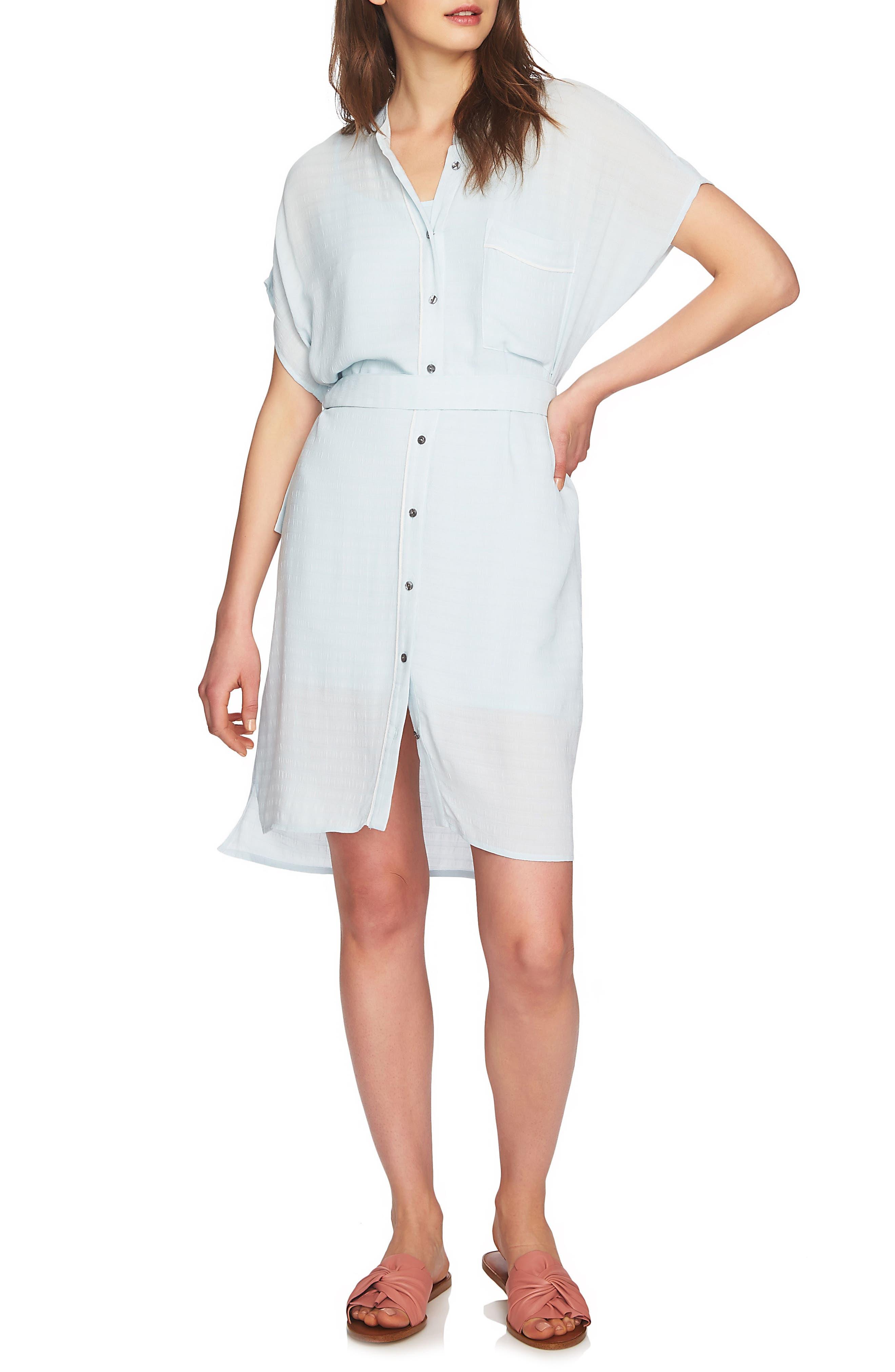 Belted Shirtdress,                             Main thumbnail 1, color,                             Harbor Light