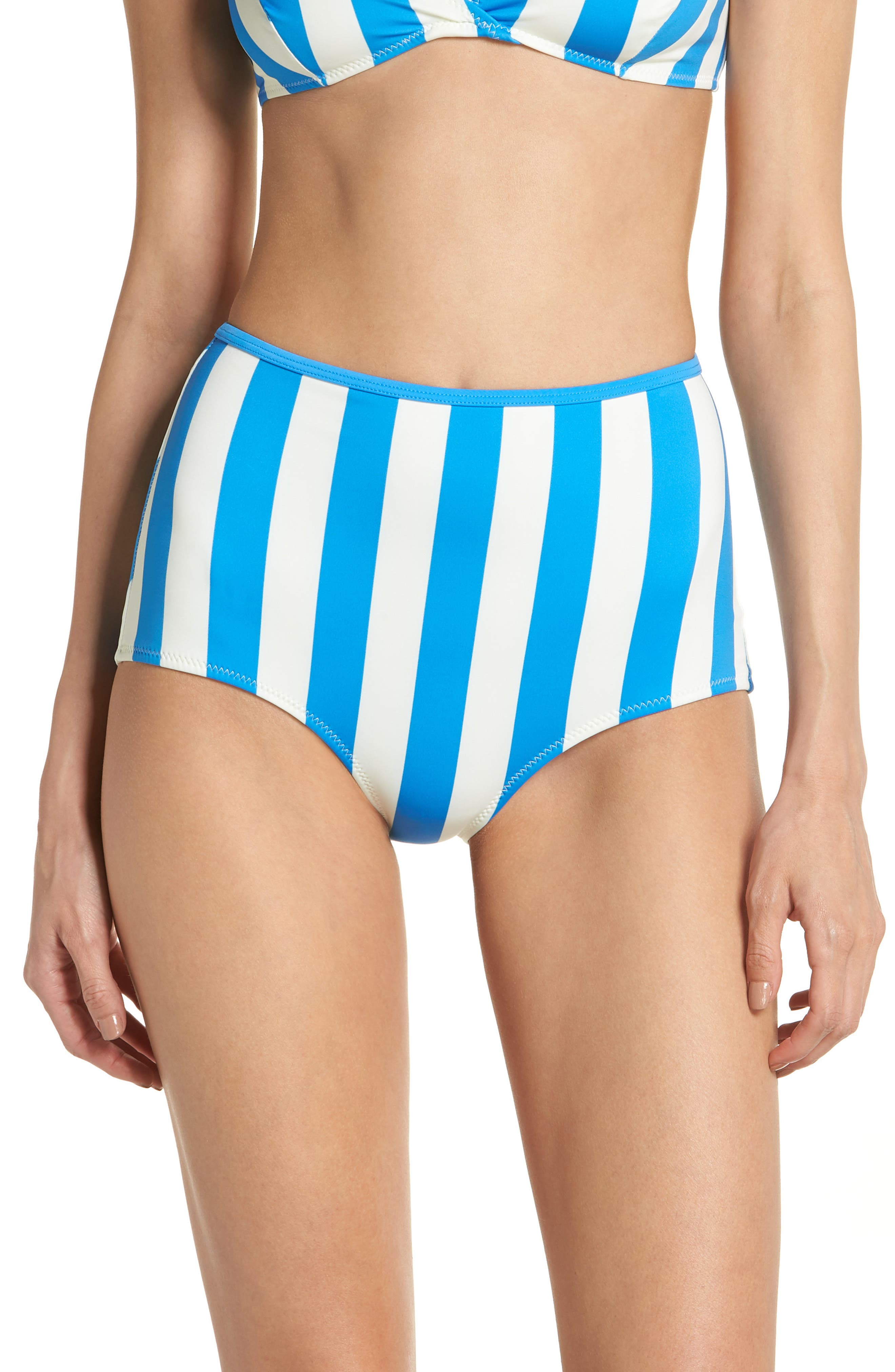 The Brigitte Swim Briefs,                         Main,                         color, Sea Stripe
