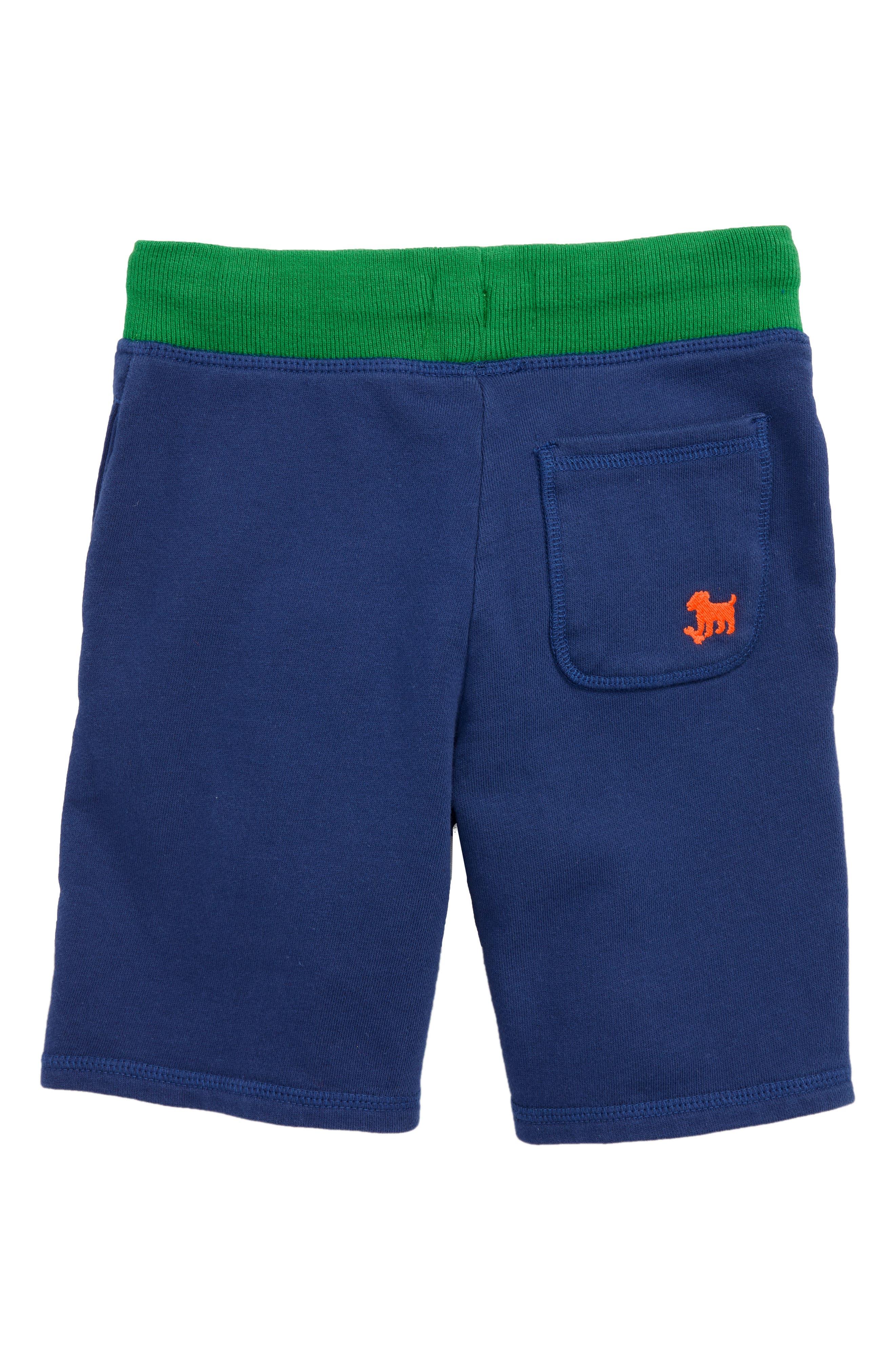 Crocodile Appliqué Sweat Shorts,                             Alternate thumbnail 2, color,                             Beacon Blue Crocodile