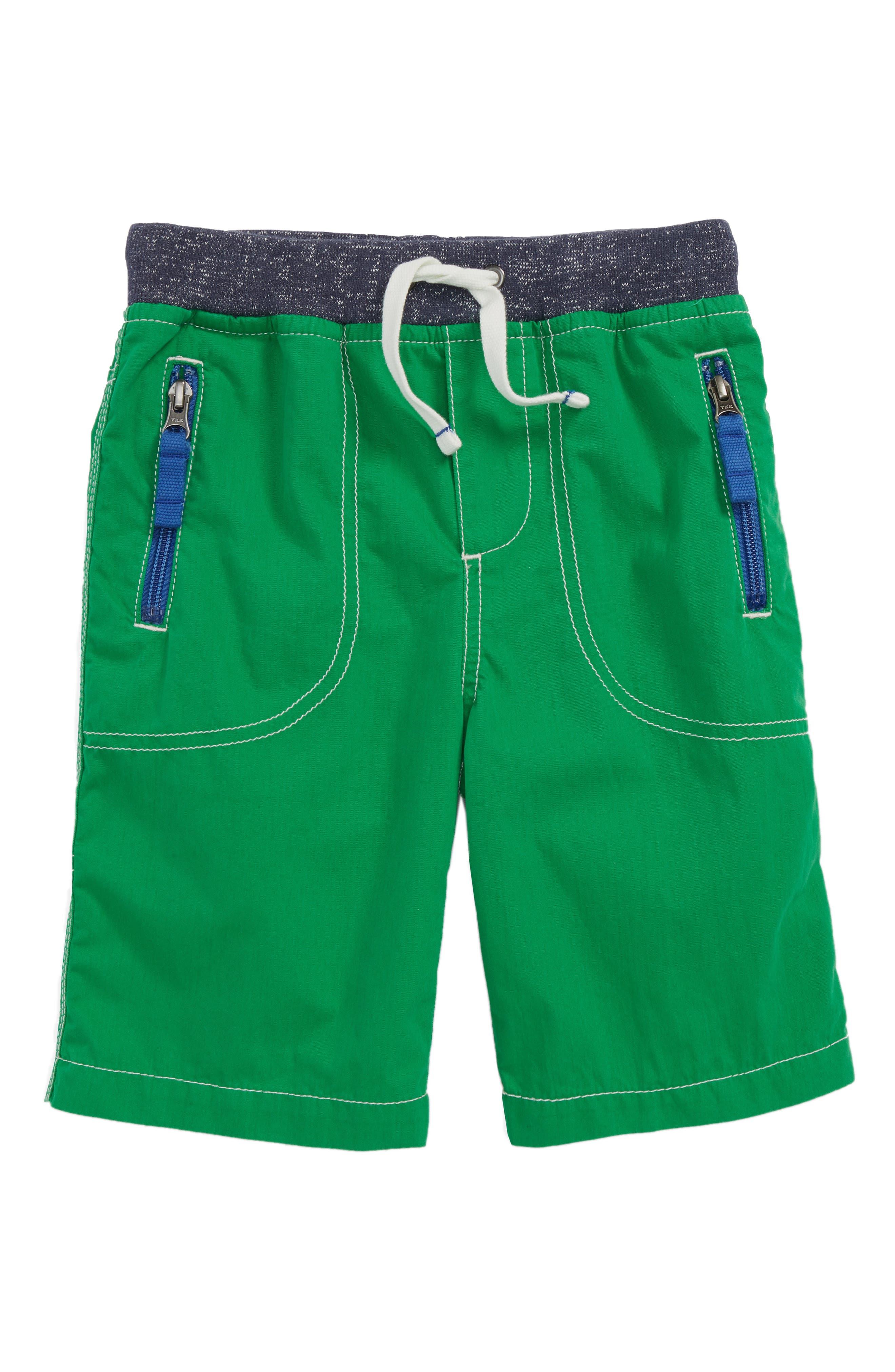 Adventure Shorts,                             Main thumbnail 1, color,                             Runner Bean Green