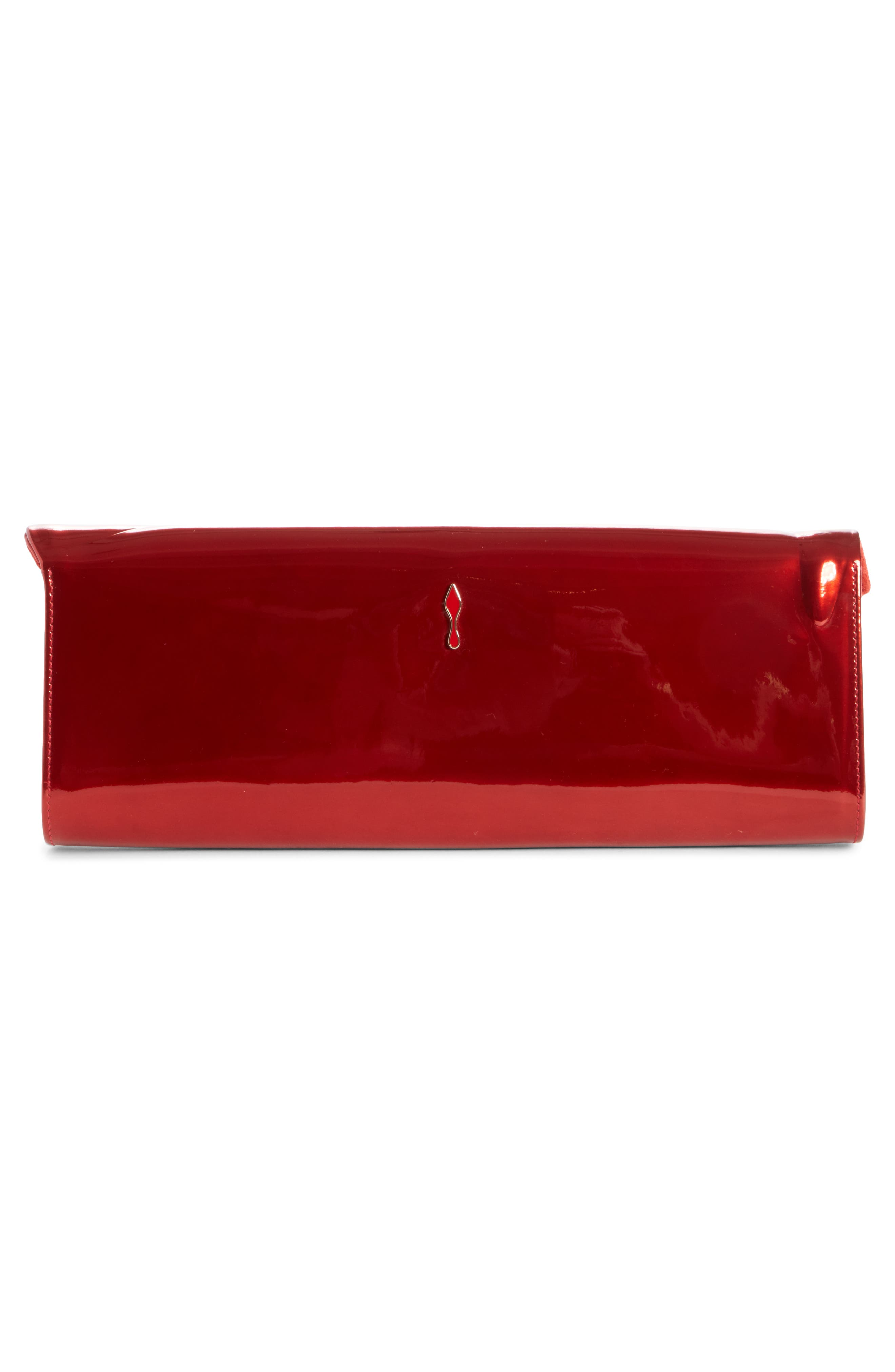 'So Kate' Patent Leather Clutch,                             Alternate thumbnail 2, color,                             Red