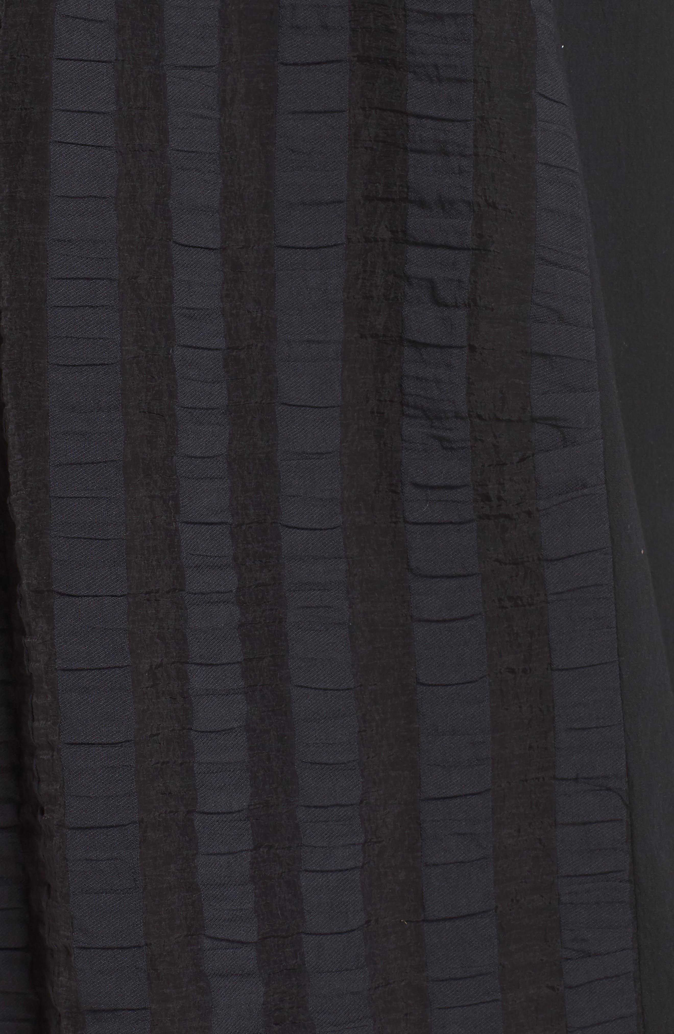 Throwing Shade Midi Dress,                             Alternate thumbnail 6, color,                             Black