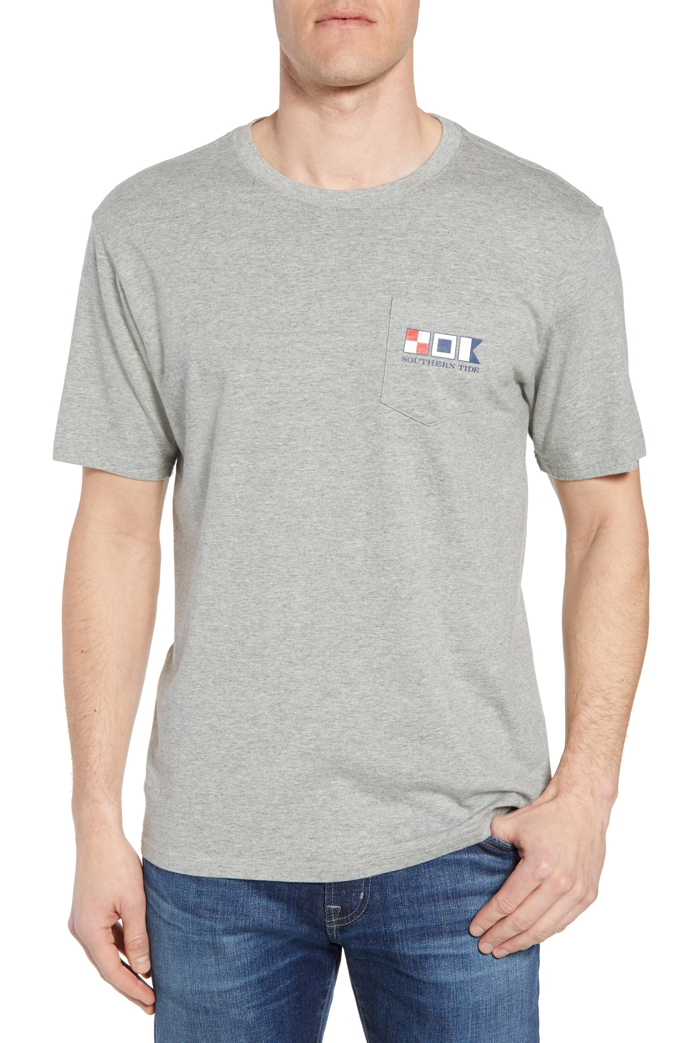 We the People Regular Fit T-Shirt,                         Main,                         color, Grey