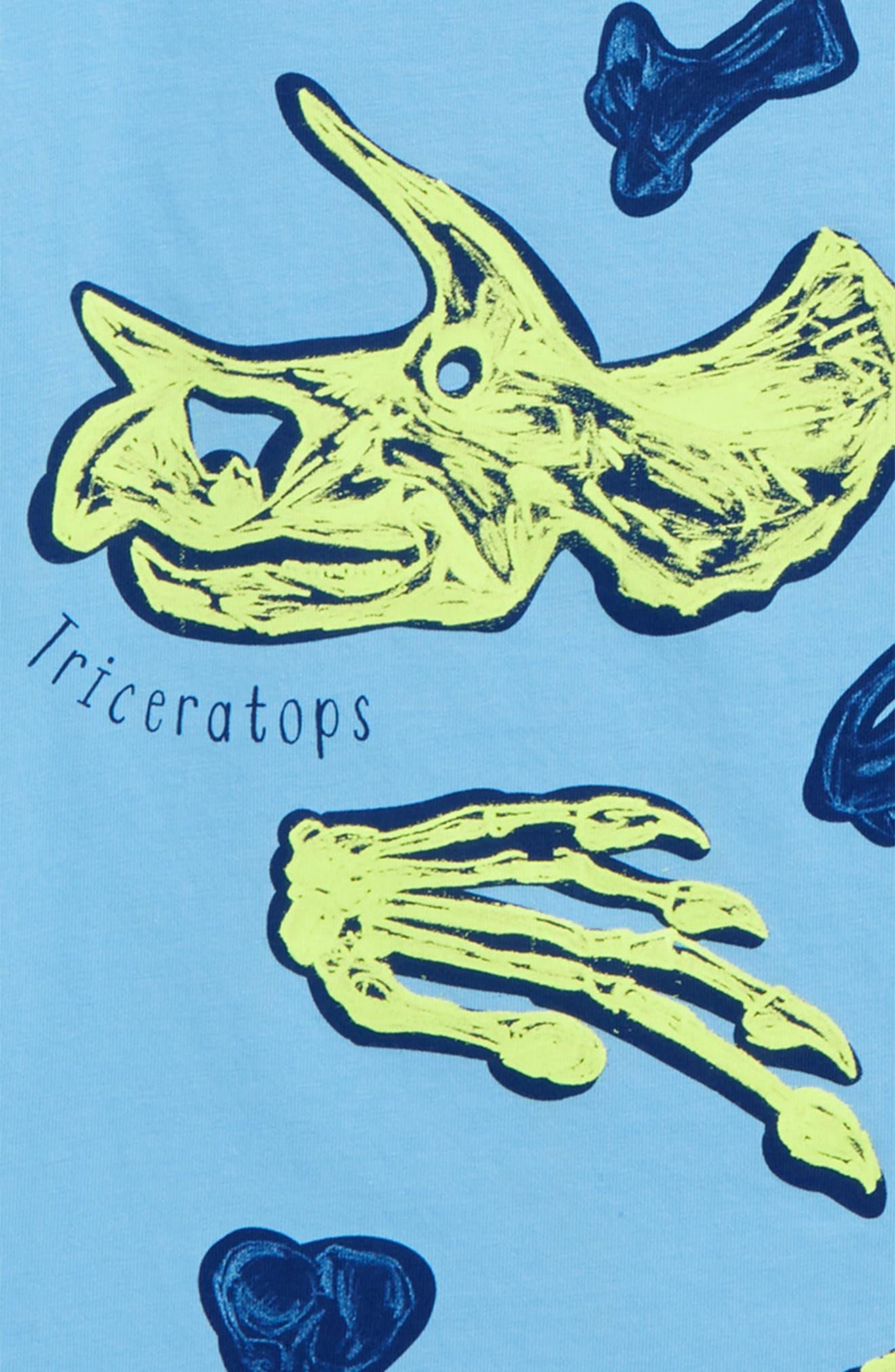 Educational Dinosaur T-Shirt,                             Alternate thumbnail 2, color,                             Surfboard Blue Dino
