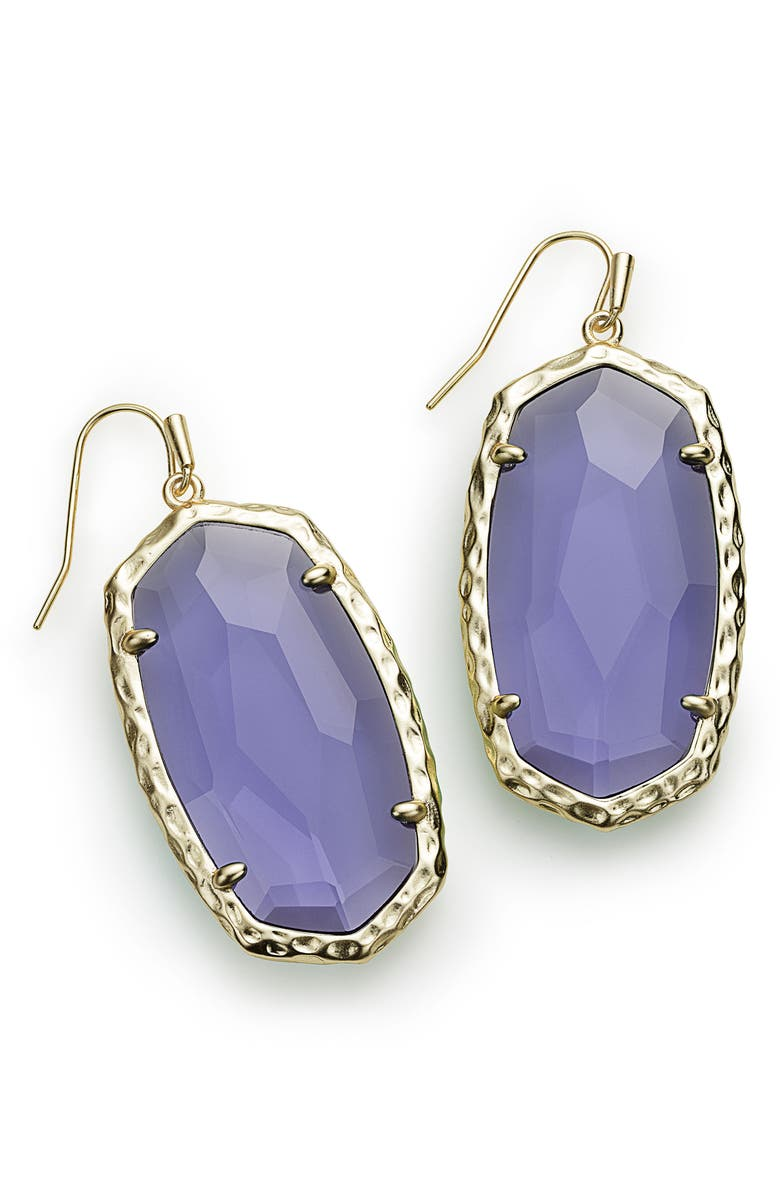 Ella Drop Earrings,                         Main,                         color, Iolite/ Gold