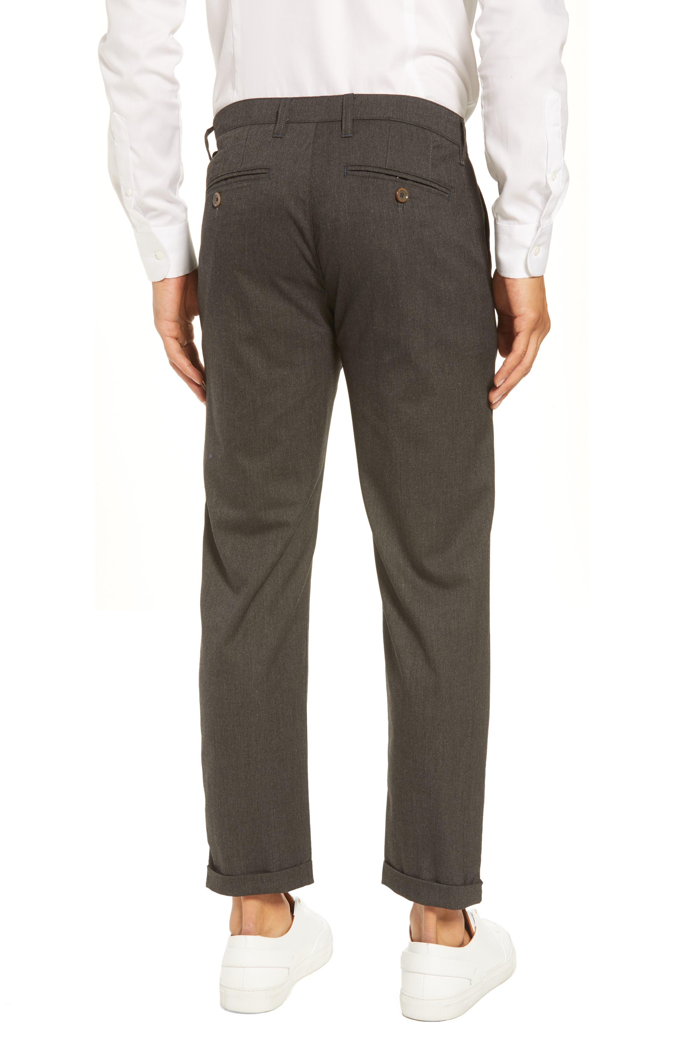 Champi Pleated Cropped Pants,                             Alternate thumbnail 2, color,                             Black