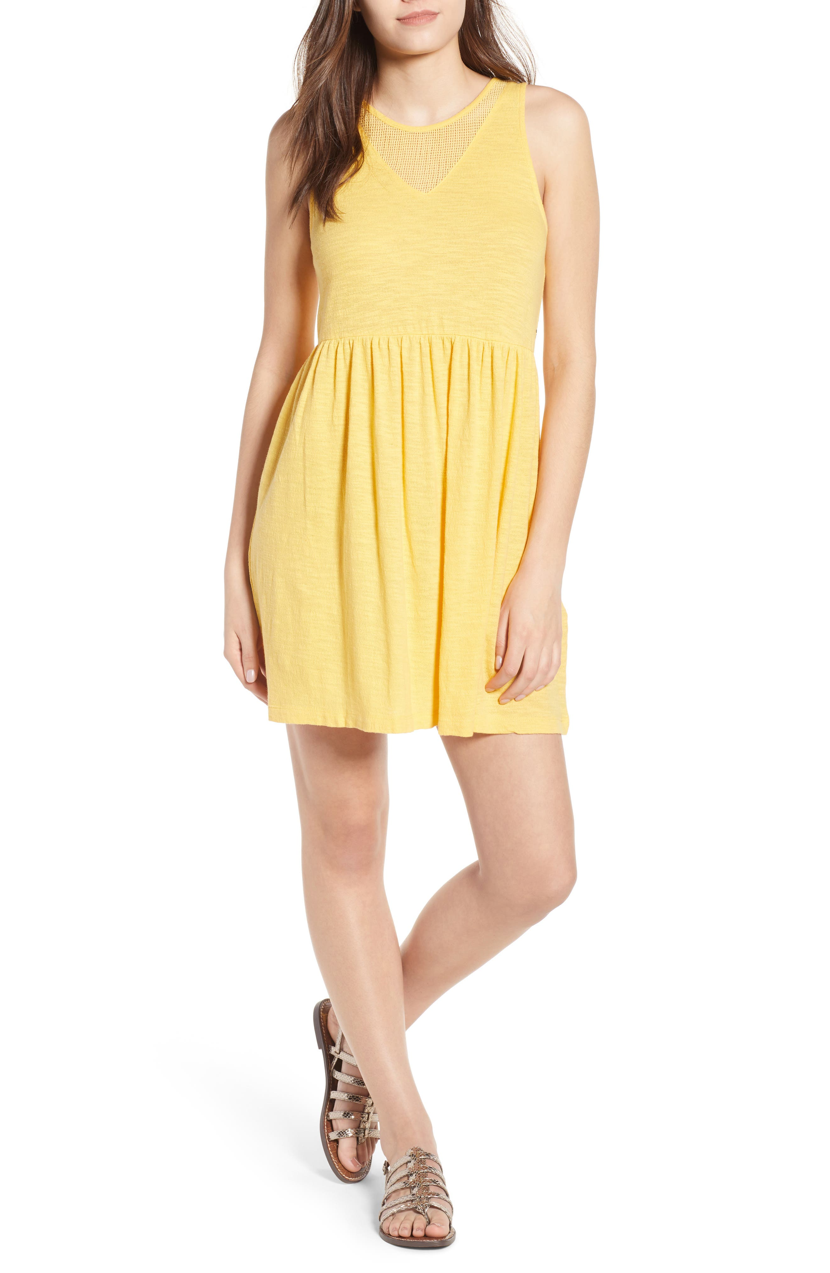 Tucson Cotton Dress,                             Main thumbnail 1, color,                             Buff Yellow