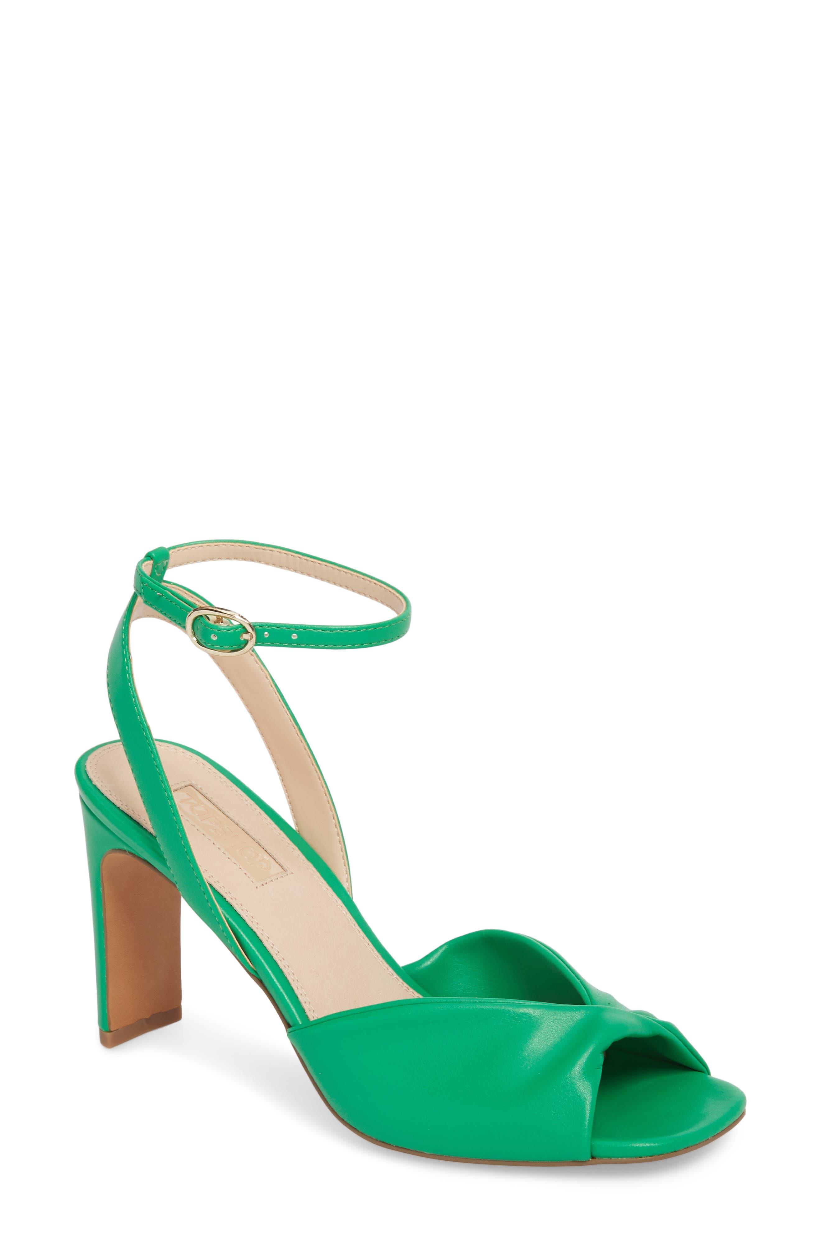Raven Skinny Heel Sandal,                         Main,                         color, Green