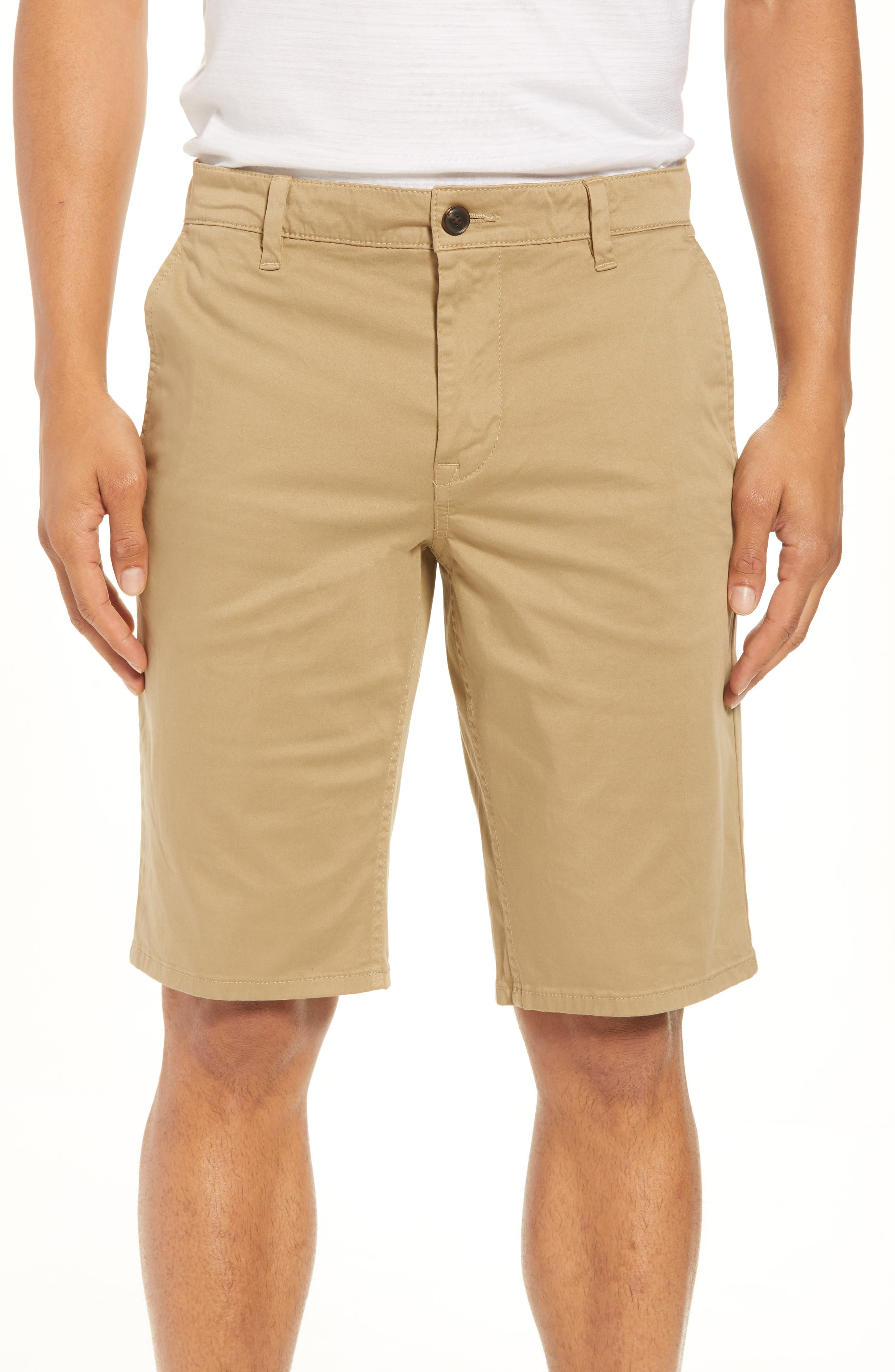 Slim Fit Shorts,                             Main thumbnail 1, color,                             Brown