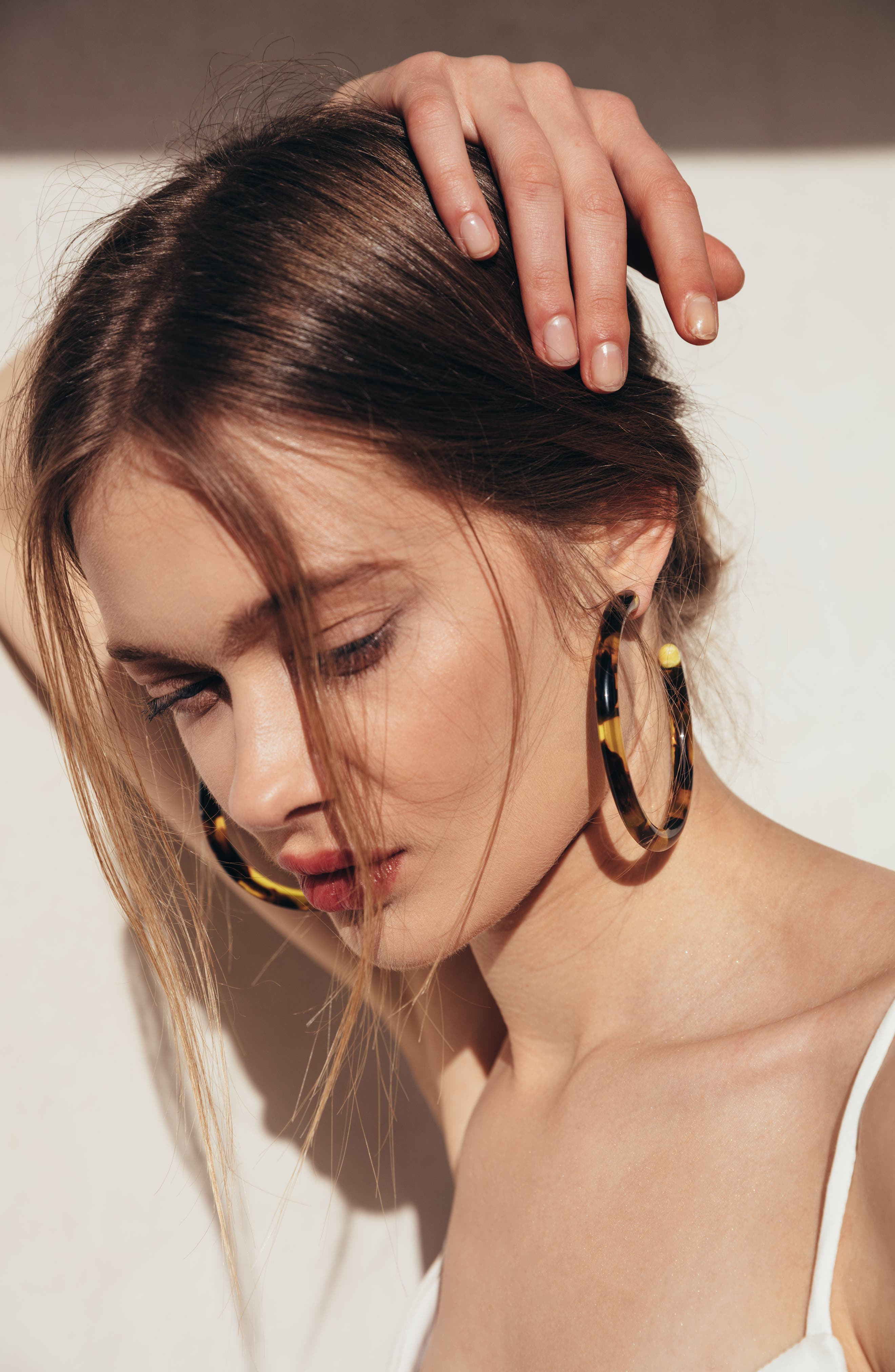 Alternate Image 2  - Cult Gaia Large Geneva Tubular Hoop Earrings