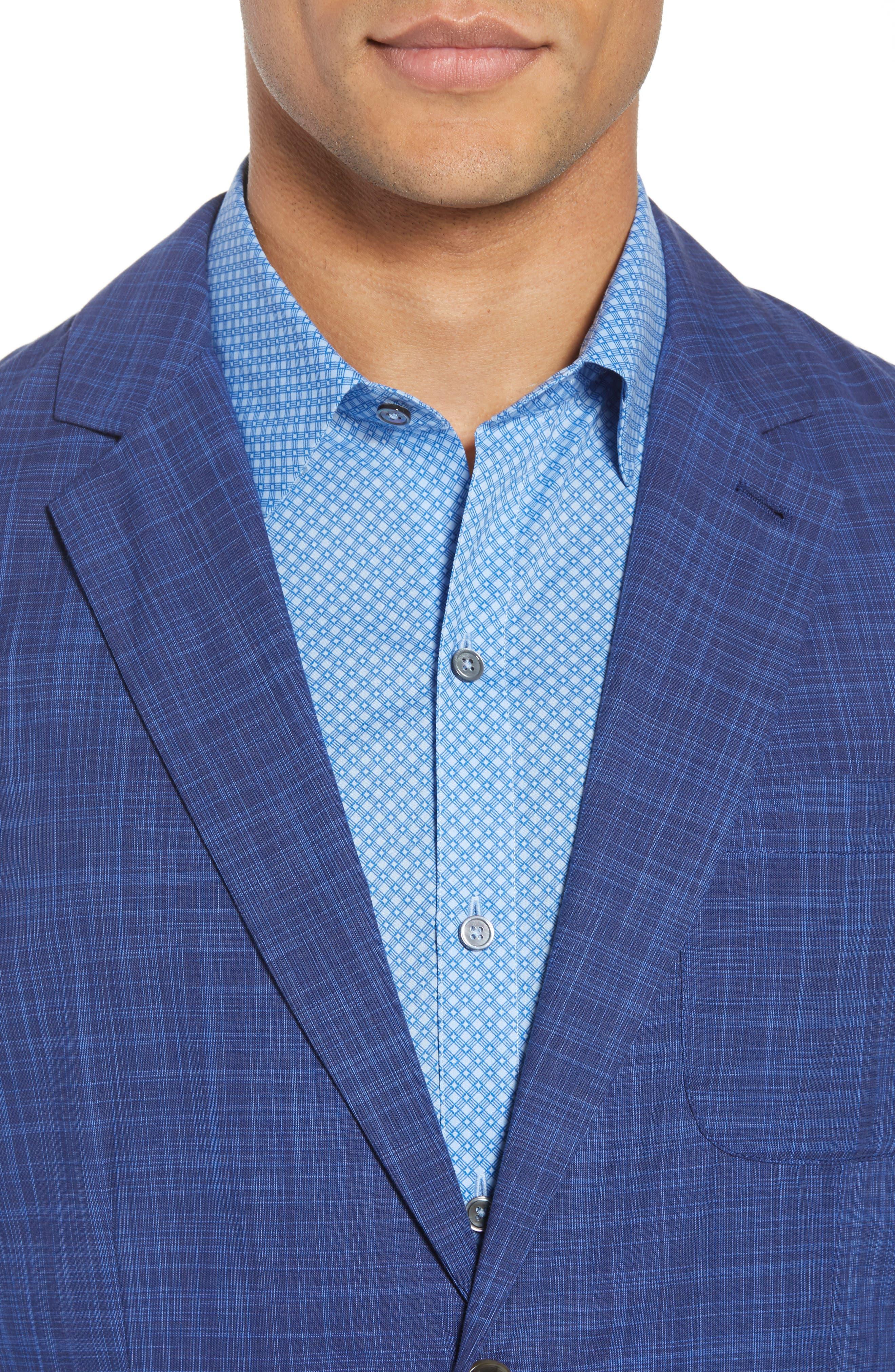 Belmont Regular Fit Sport Coat,                             Alternate thumbnail 4, color,                             Blue