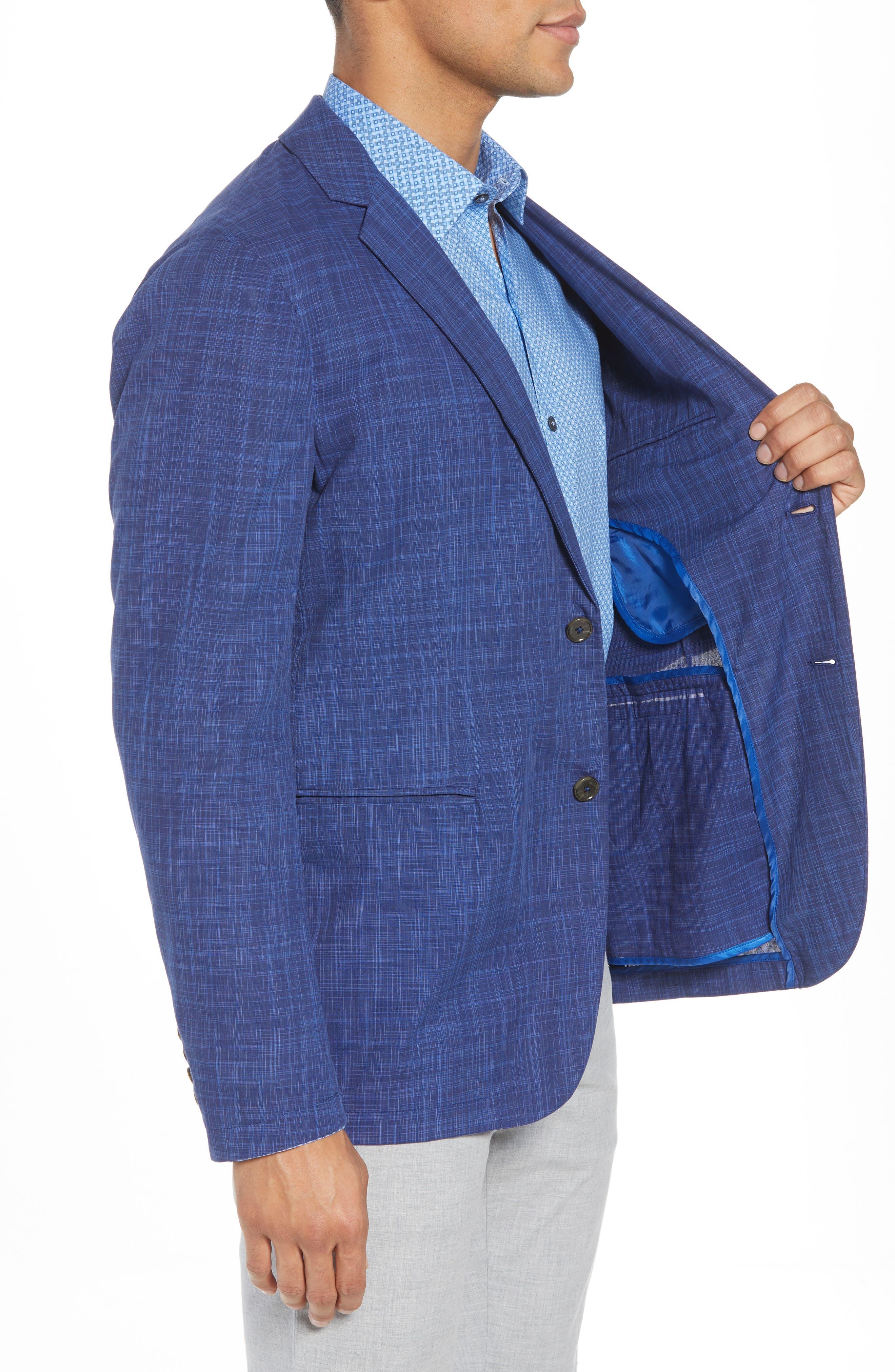 Belmont Regular Fit Sport Coat,                             Alternate thumbnail 3, color,                             Blue