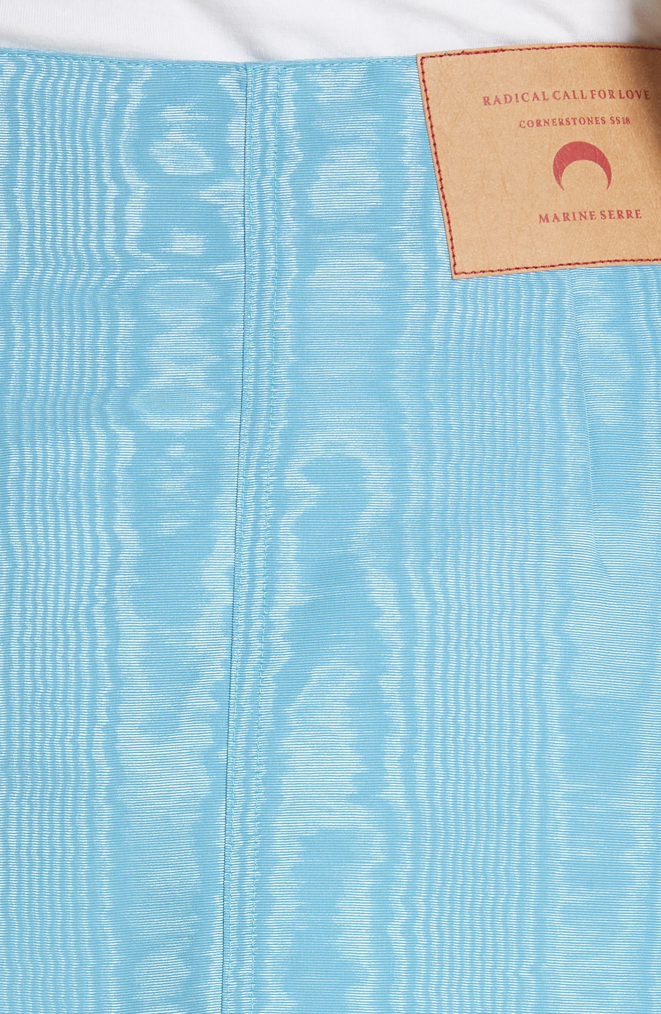 Moiré Miniskirt,                             Alternate thumbnail 5, color,                             Blue