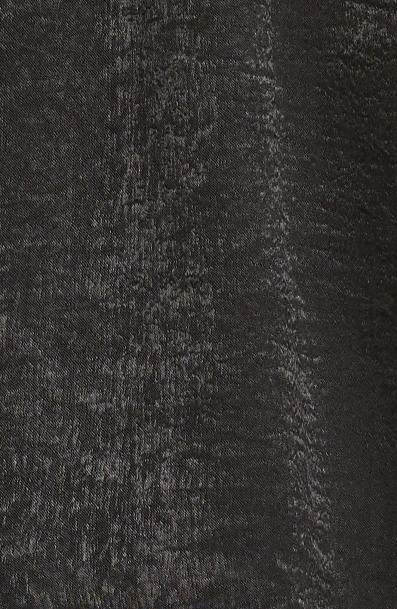 Dulce Minidress,                             Alternate thumbnail 6, color,                             Black Sheen