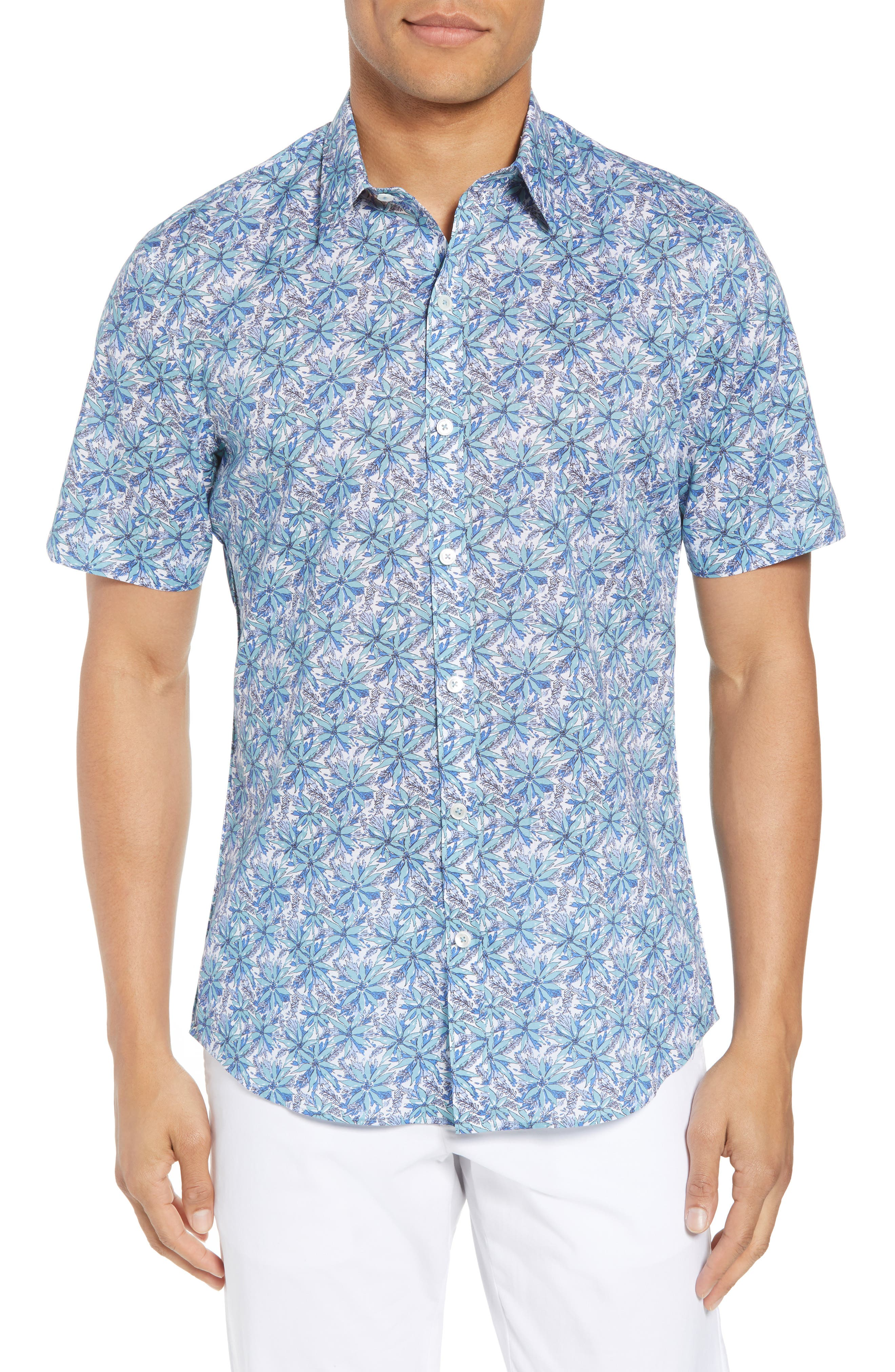 Goelzer Trim Fit Sport Shirt,                         Main,                         color, Aqua