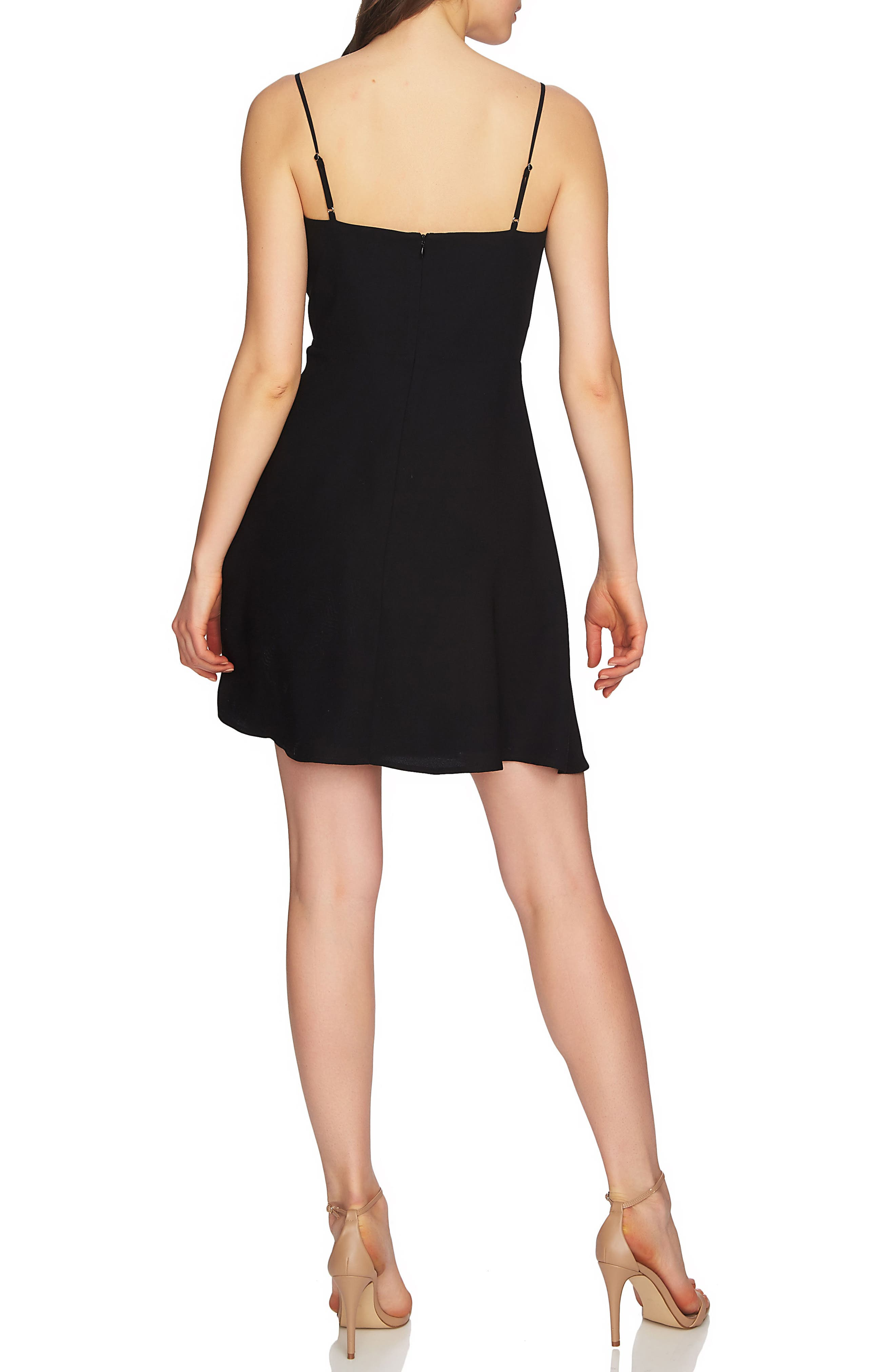 Robin Lace-Up Dress,                             Alternate thumbnail 3, color,                             Rich Black