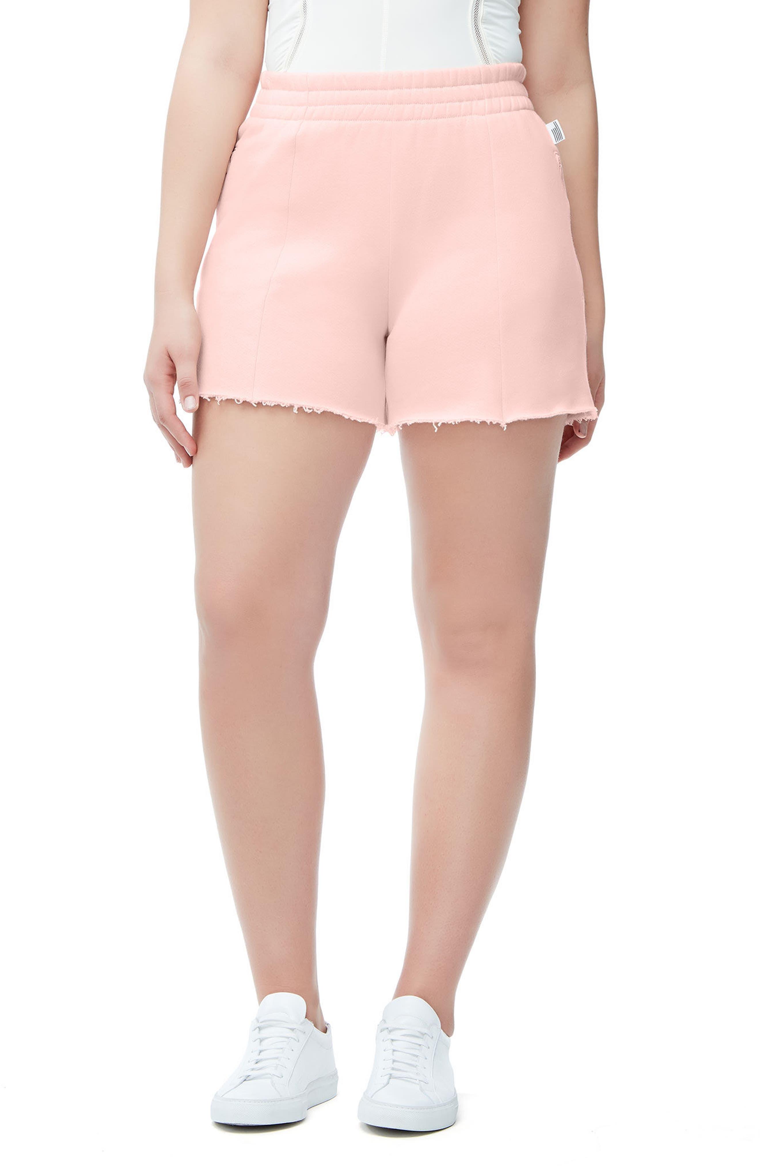 Alternate Image 3  - Good American Wide Leg Sweat Shorts (Regular & Plus Size)