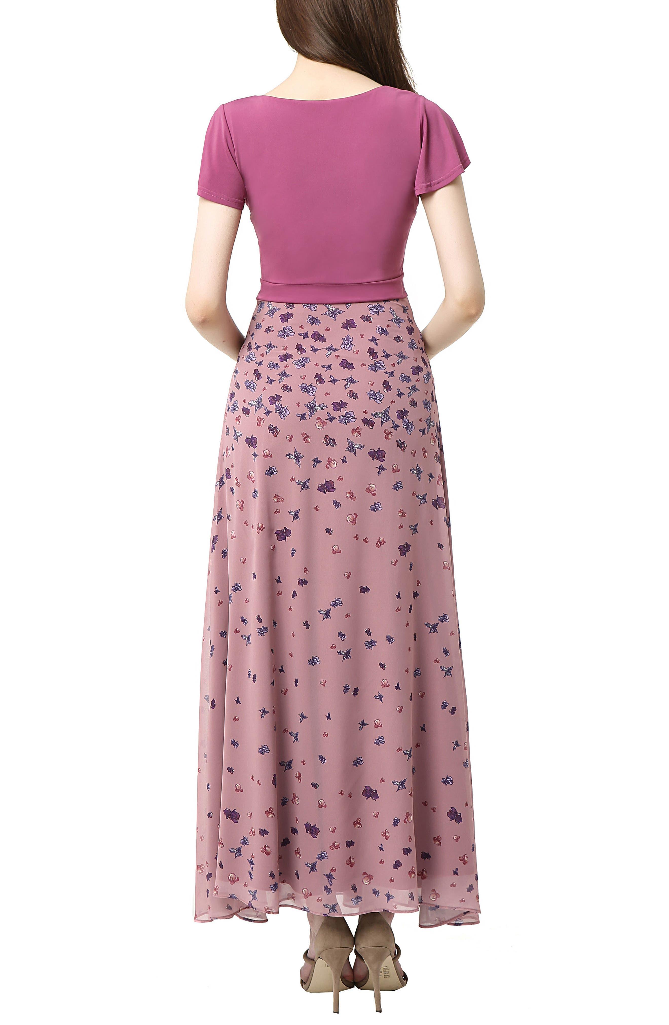Emma Flutter Sleeve Maternity Maxi Dress,                             Alternate thumbnail 2, color,                             Rose Pink