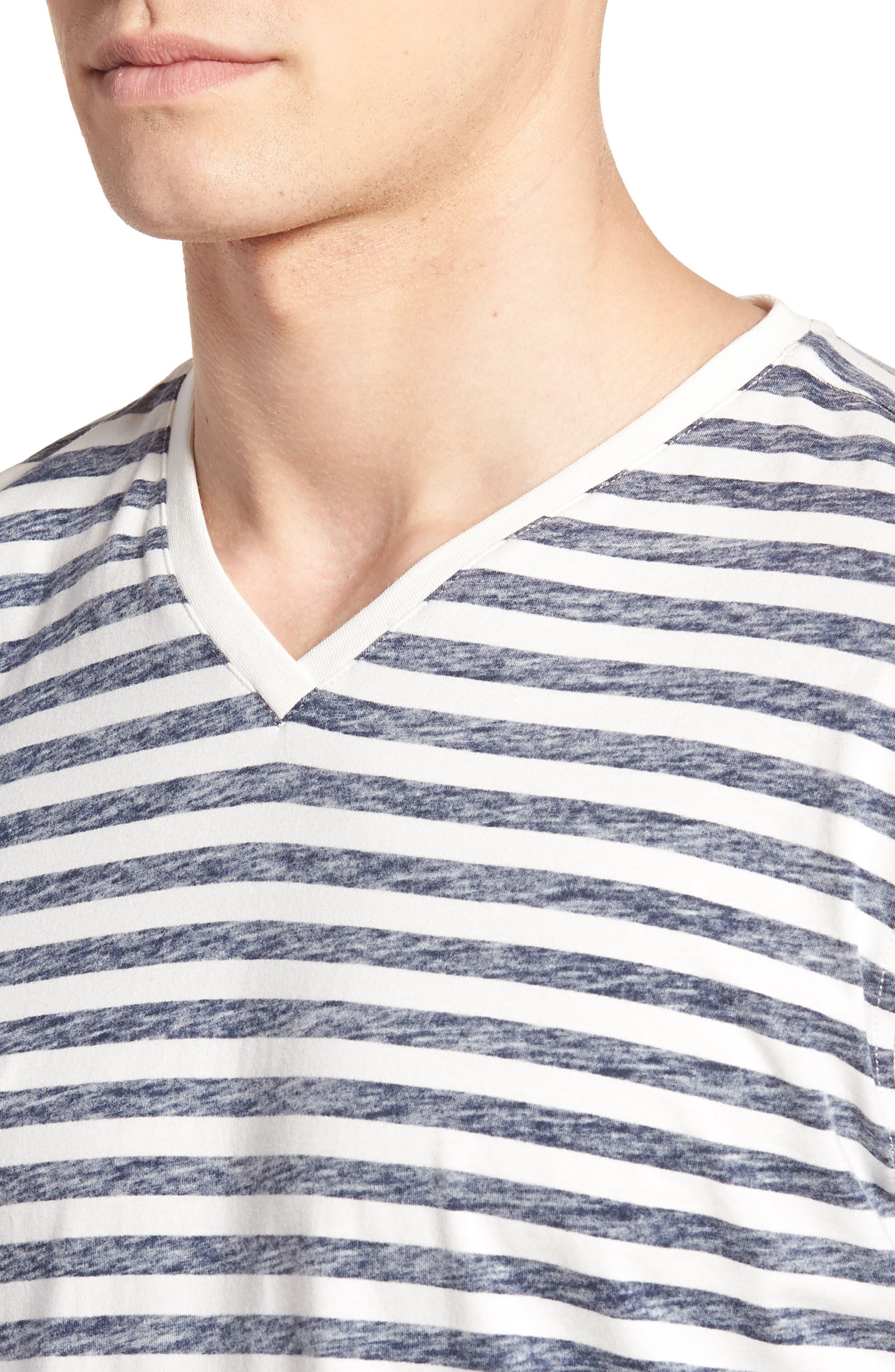 Reverse Stripe T-Shirt,                             Alternate thumbnail 4, color,                             Navy Stripe