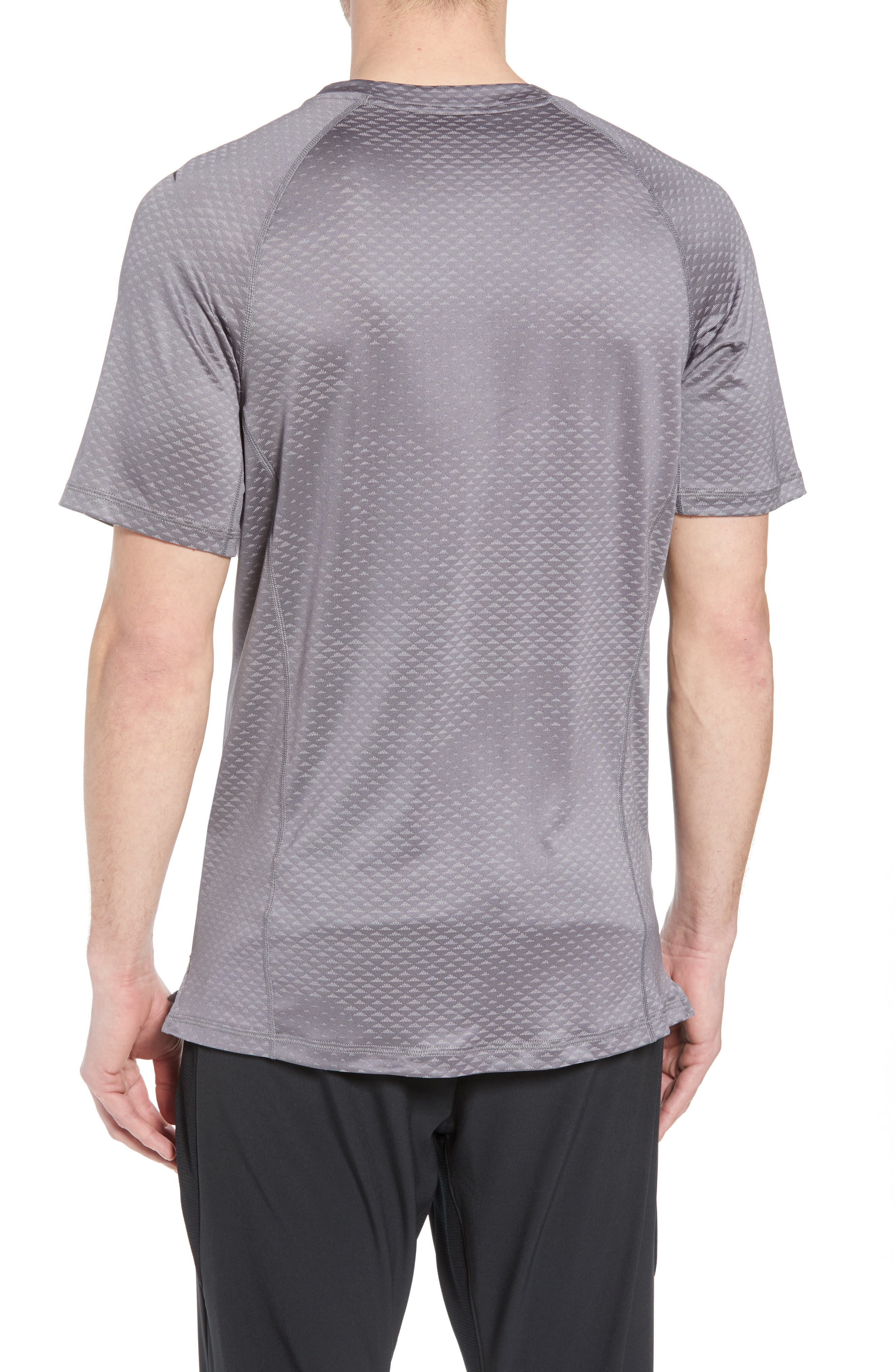 Pro HyperCool Fitted Crewneck T-Shirt,                             Alternate thumbnail 2, color,                             Atmosphere Grey/ Black
