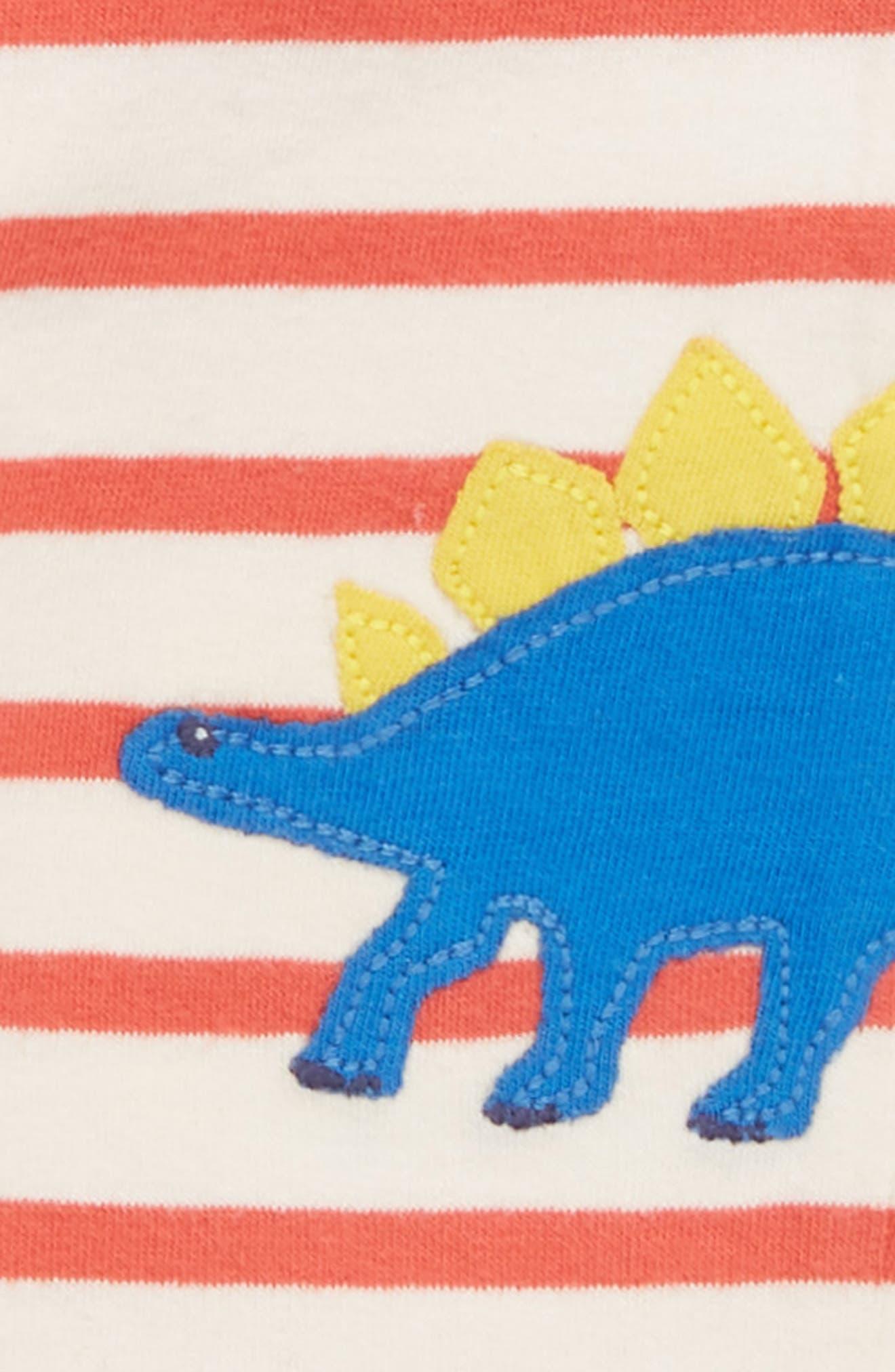 Fun Dino Appliqué Jersey Pants,                             Alternate thumbnail 3, color,                             Crayon Red