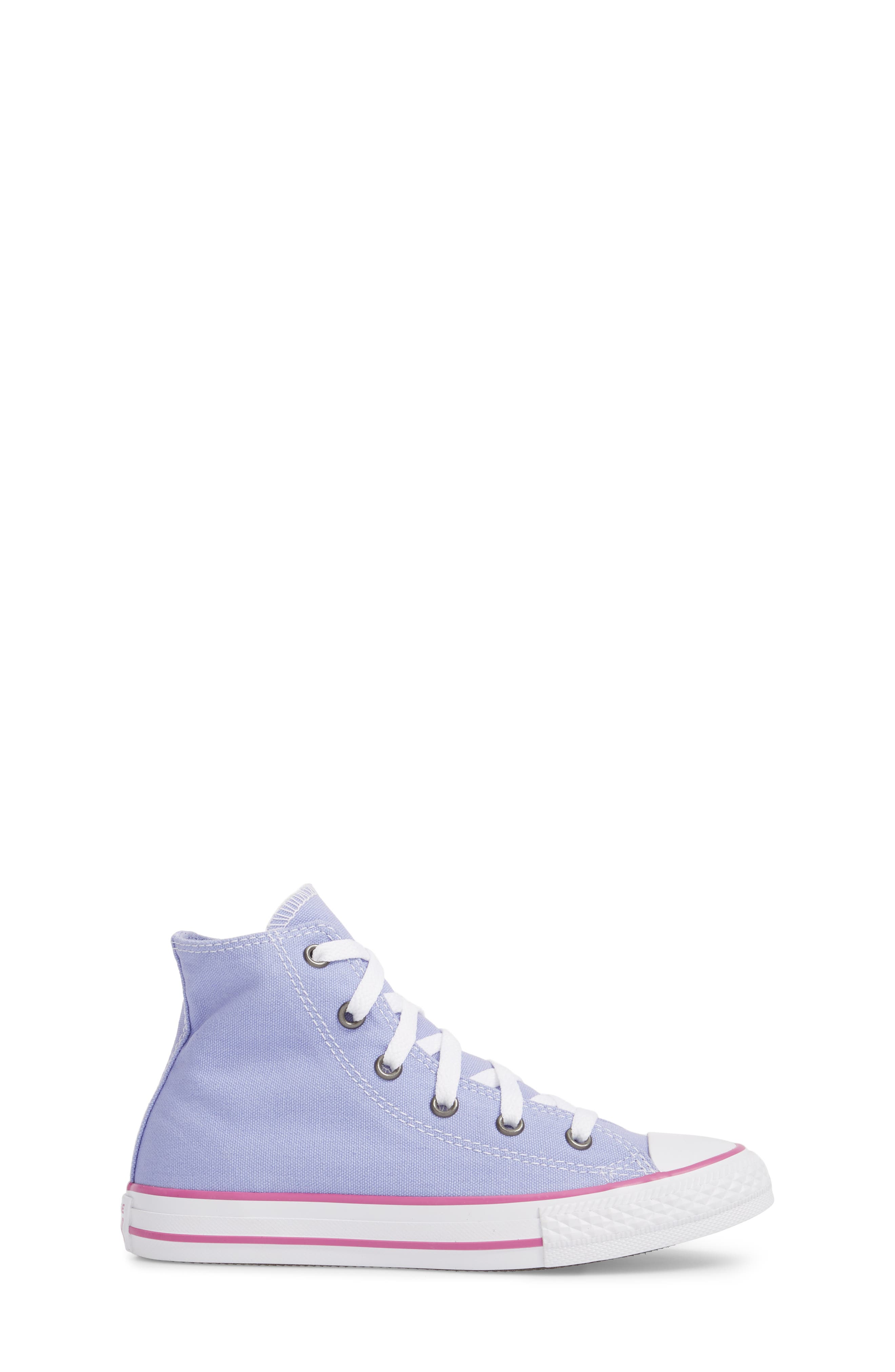 Chuck Taylor<sup>®</sup> All Star<sup>®</sup> High Top Sneaker,                             Alternate thumbnail 3, color,                             Twilight Purple