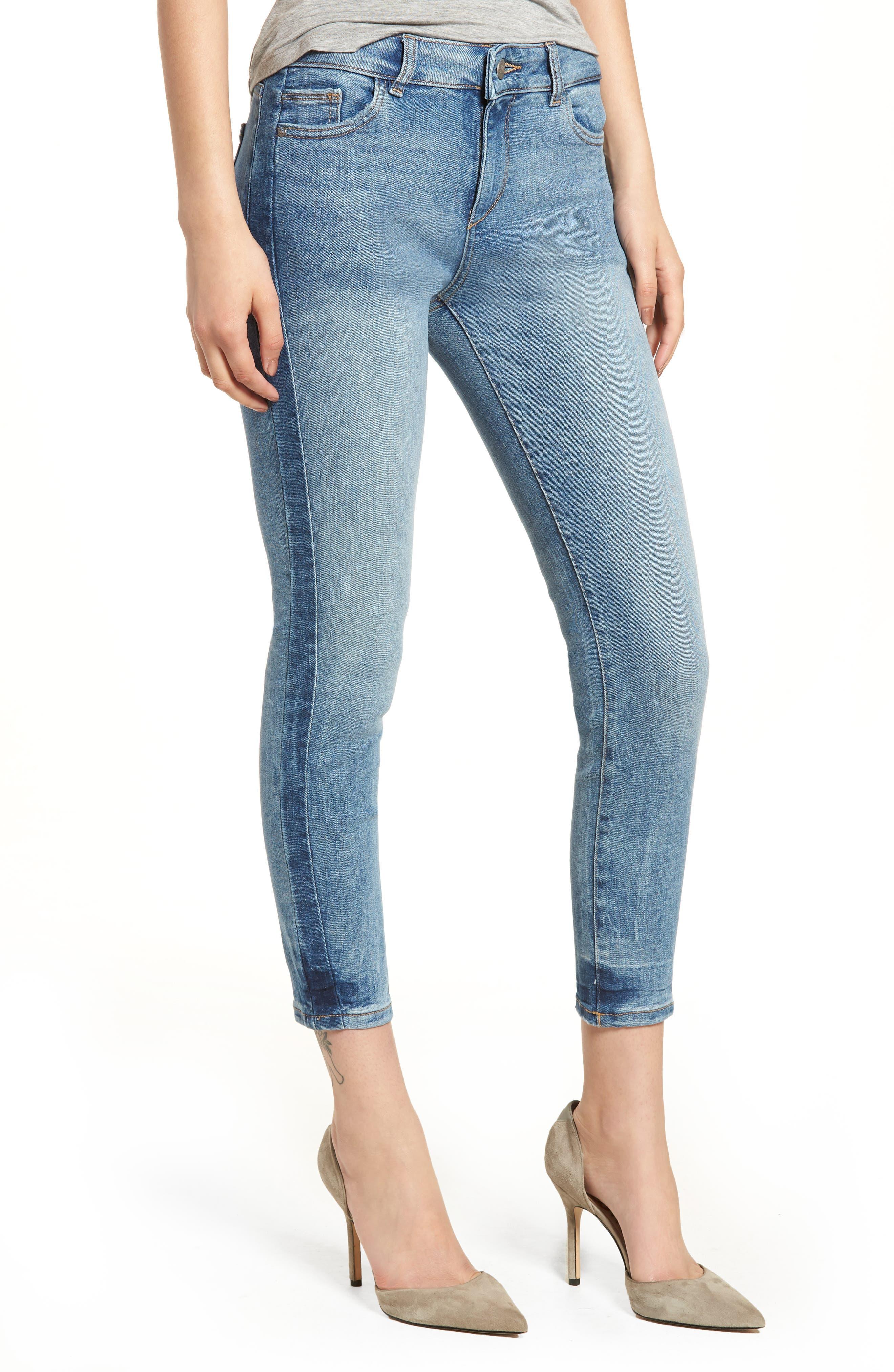 DL1961 Florence Instasculpt Crop Skinny Jeans (Belmont)