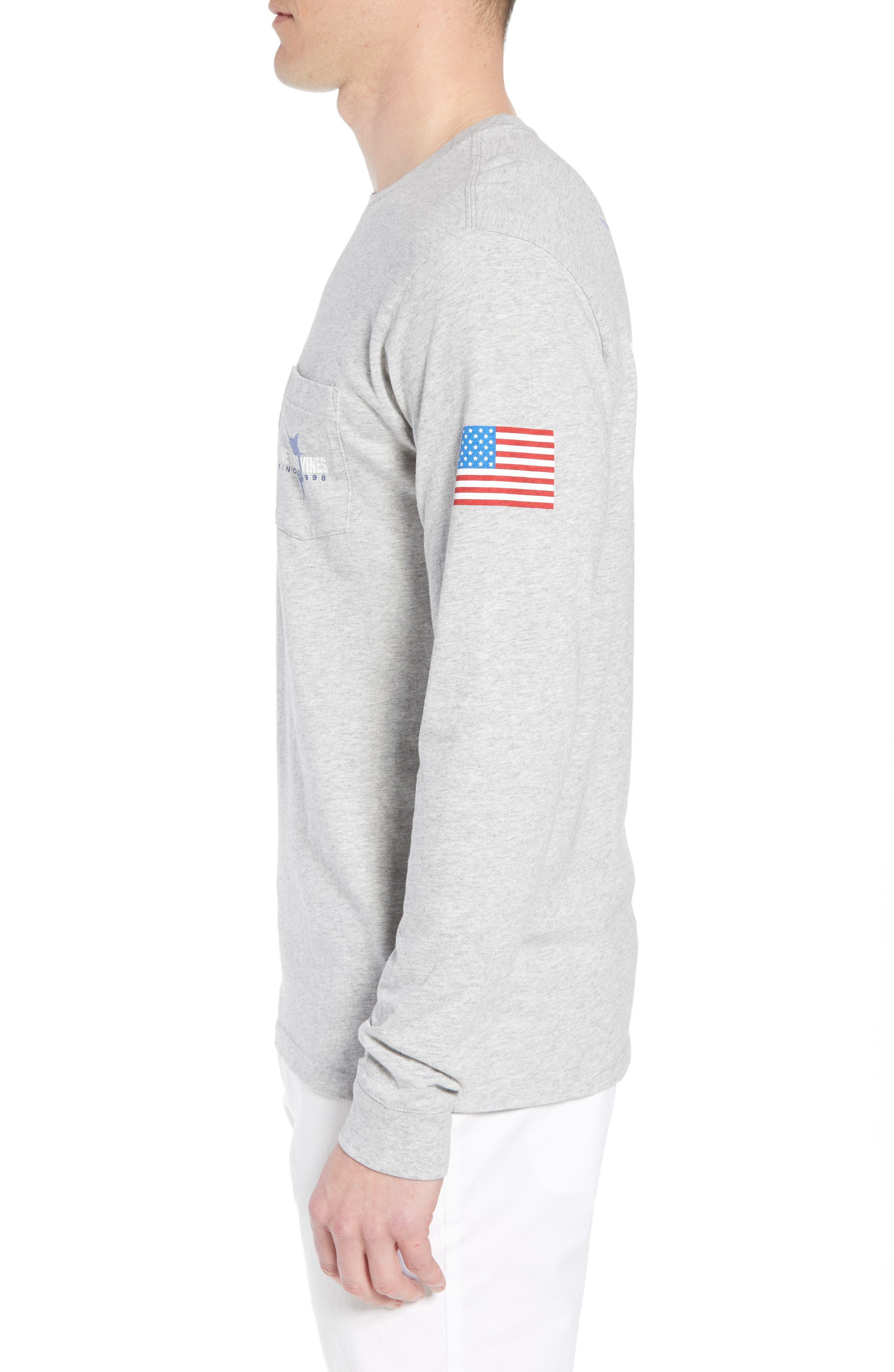 Marlin 98 Long Sleeve Pocket T-Shirt,                             Alternate thumbnail 3, color,                             Gray Heather