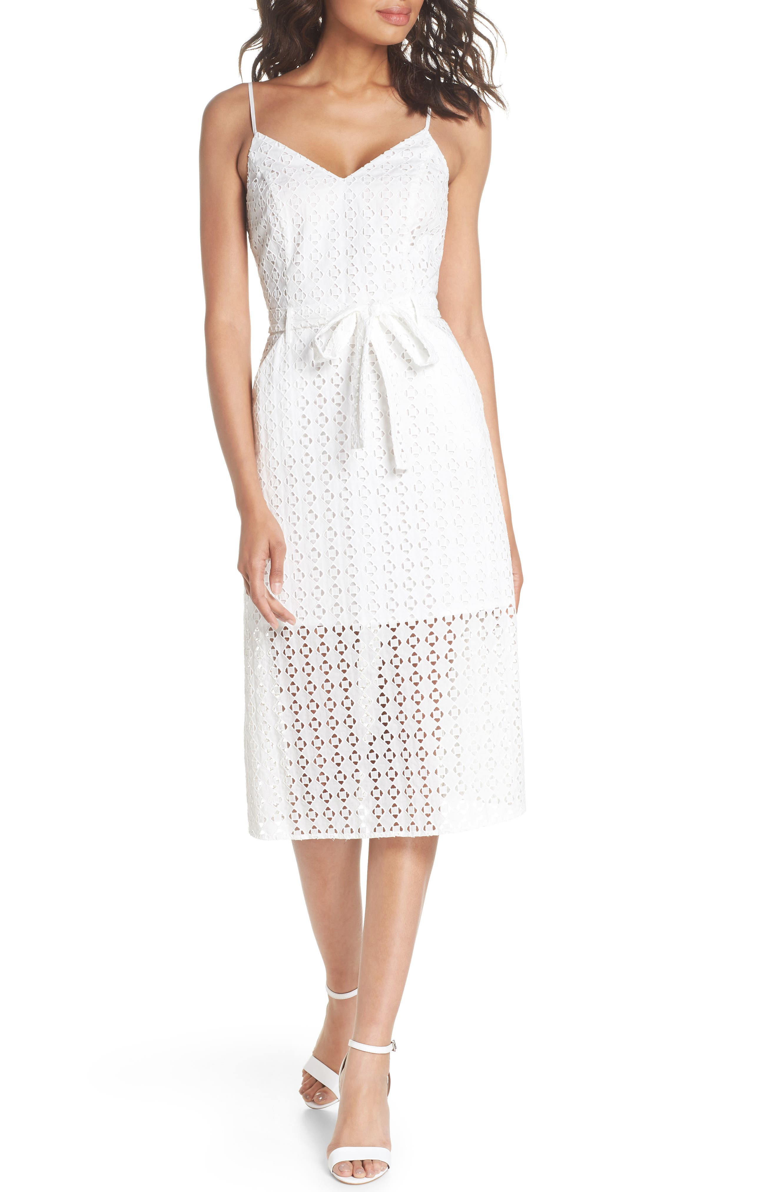 Ali & Jay Shutters Sunsets Cotton Eyelet Midi Dress
