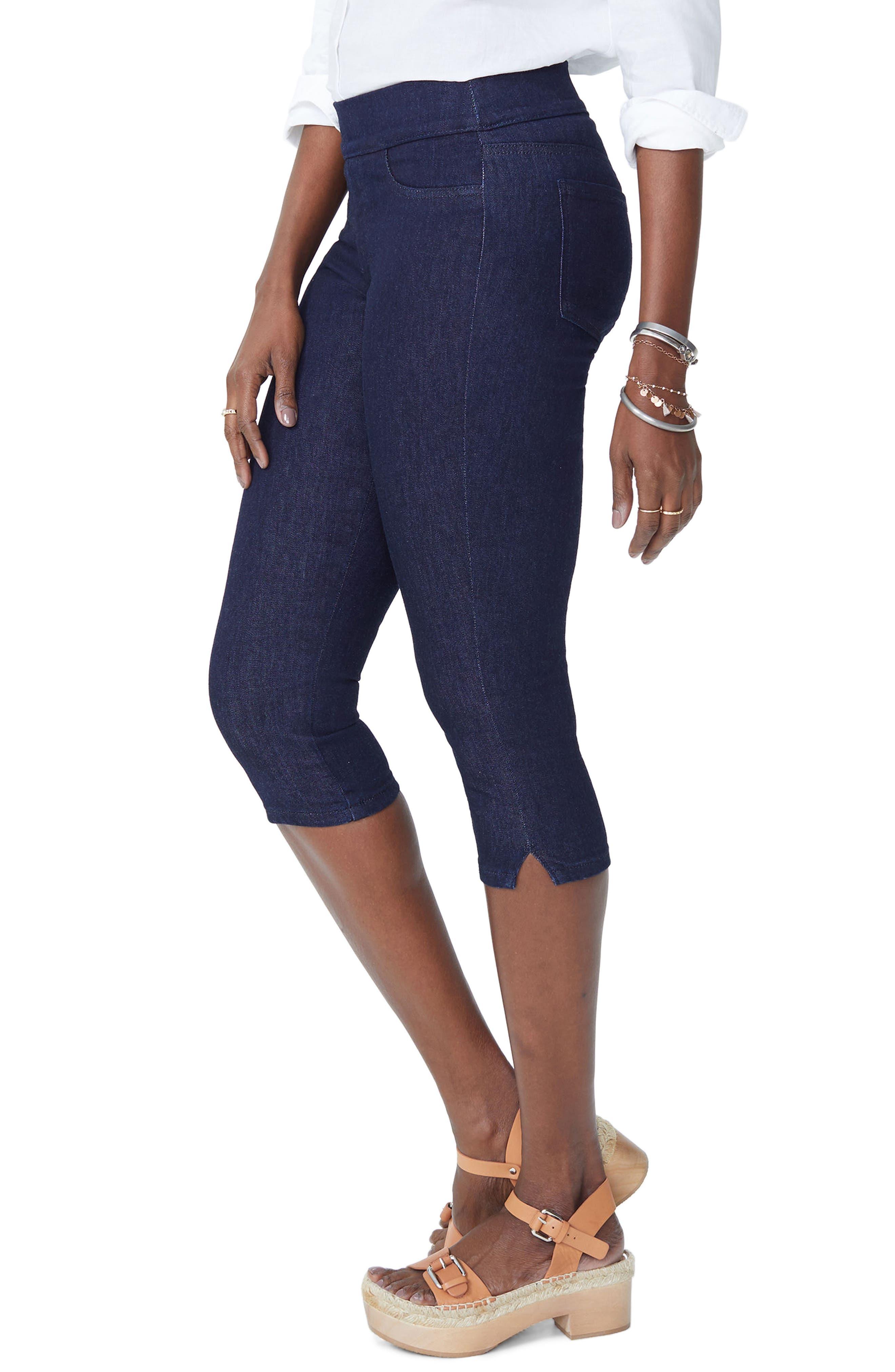 Pull-On Stretch Skinny Capri Jeans,                             Alternate thumbnail 3, color,                             Rinse