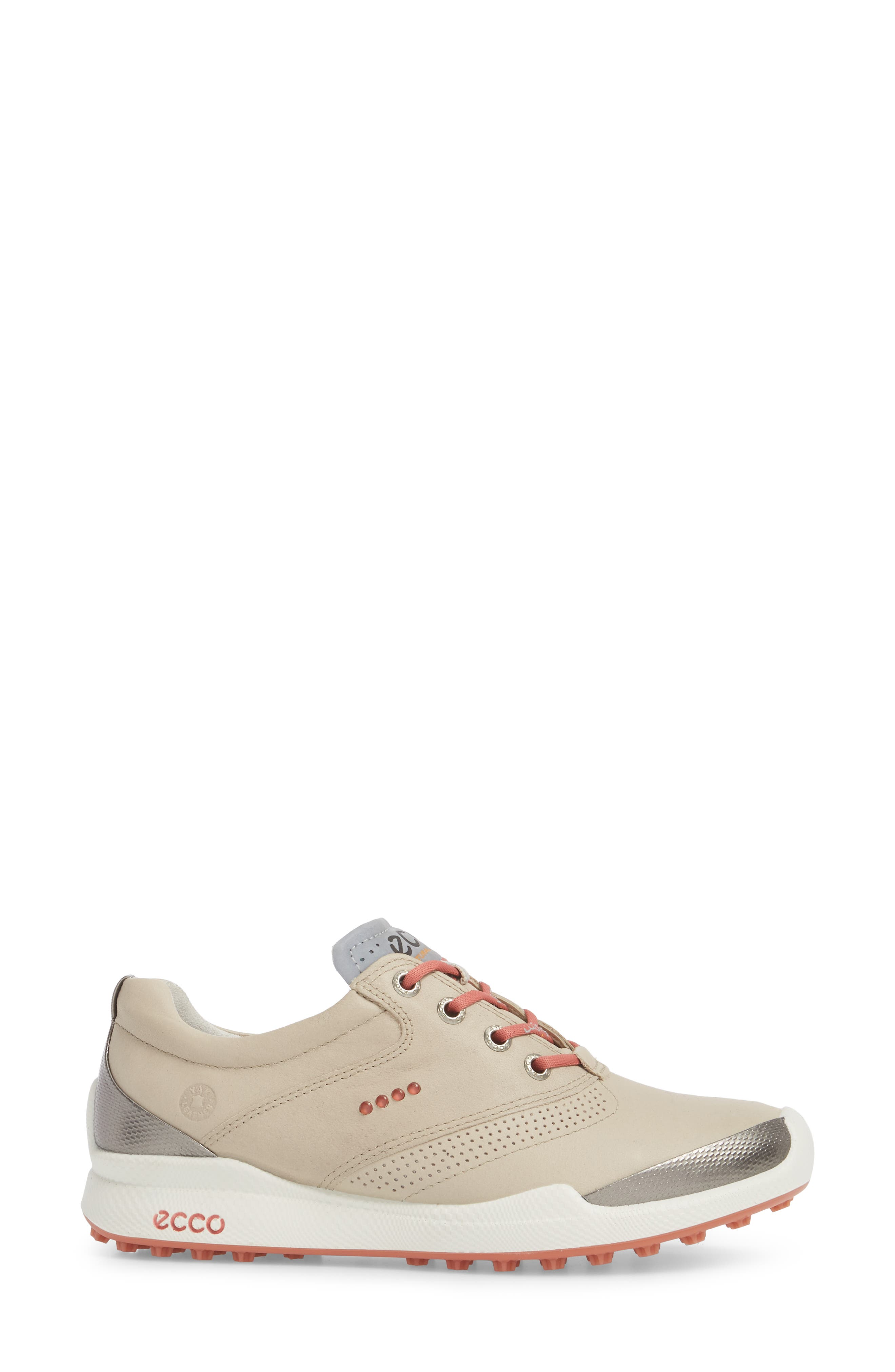 Biom Hybrid Golf Shoe,                             Alternate thumbnail 3, color,                             Oyster Leather