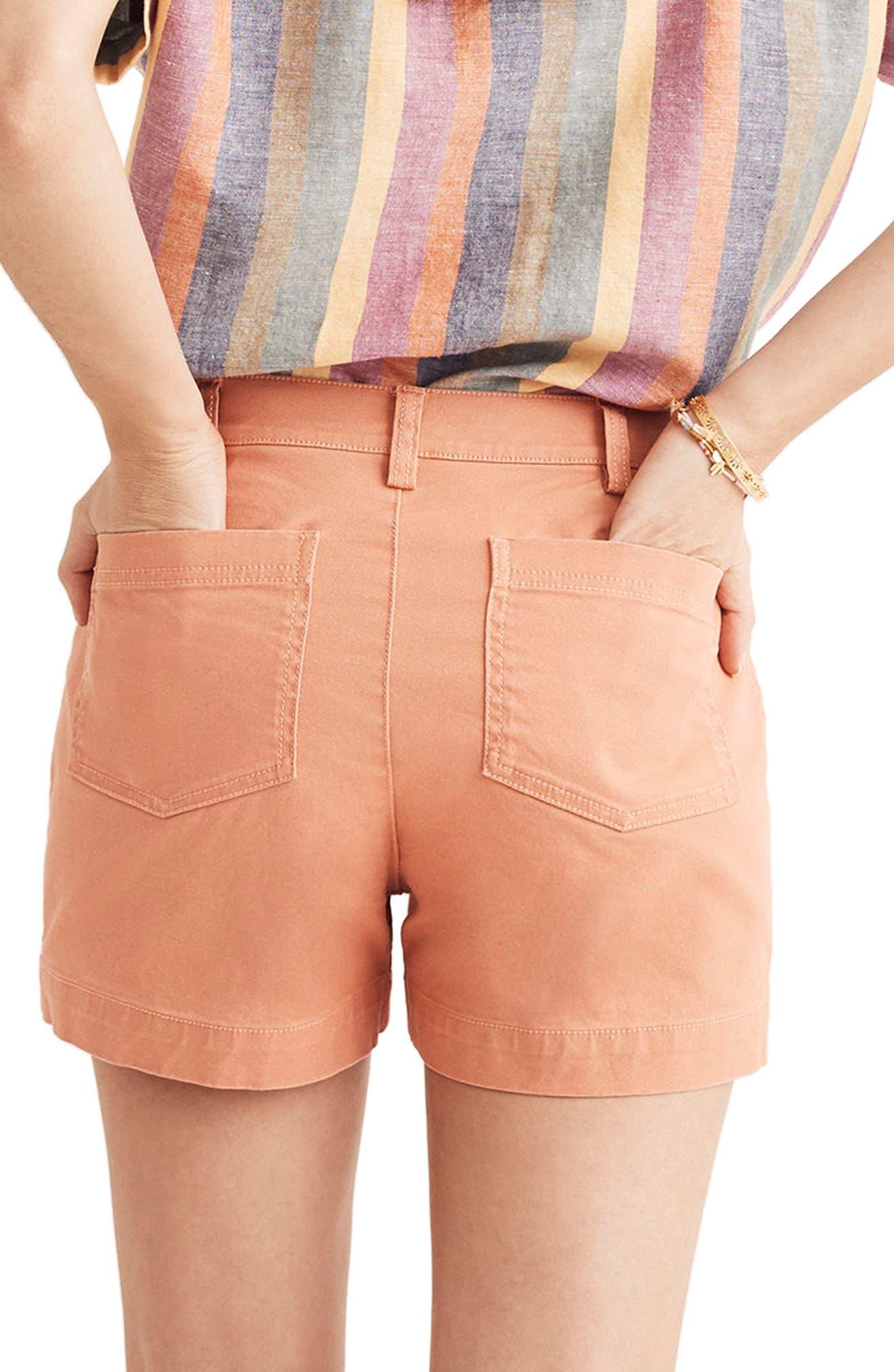 Emmett Button Front Shorts,                             Alternate thumbnail 2, color,                             Dried Coral
