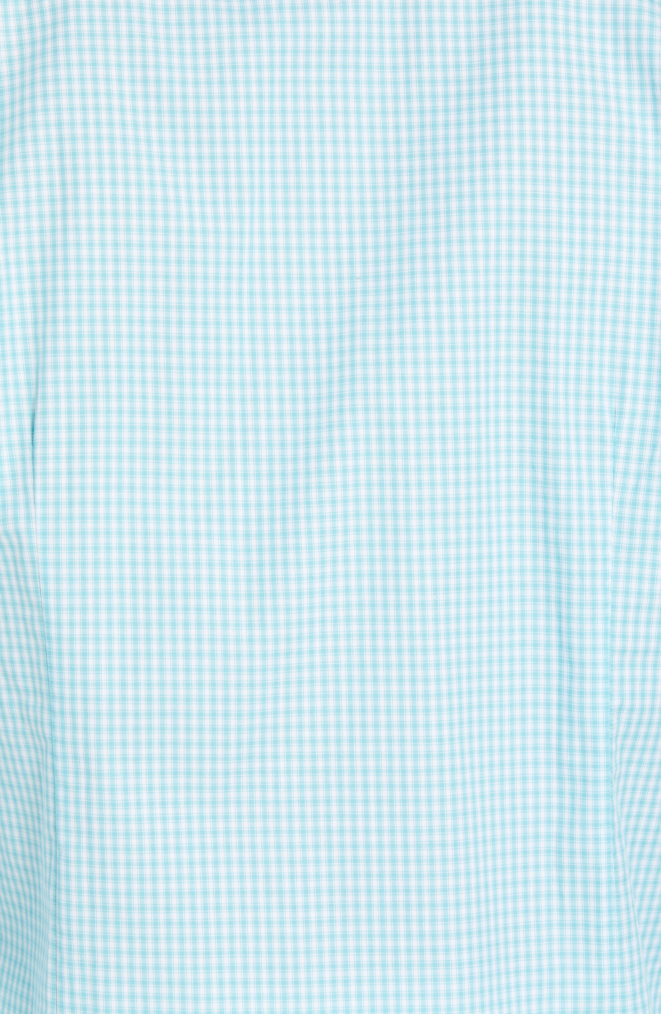 Comfort Fit Check Sport Shirt,                             Alternate thumbnail 5, color,                             Turquoise