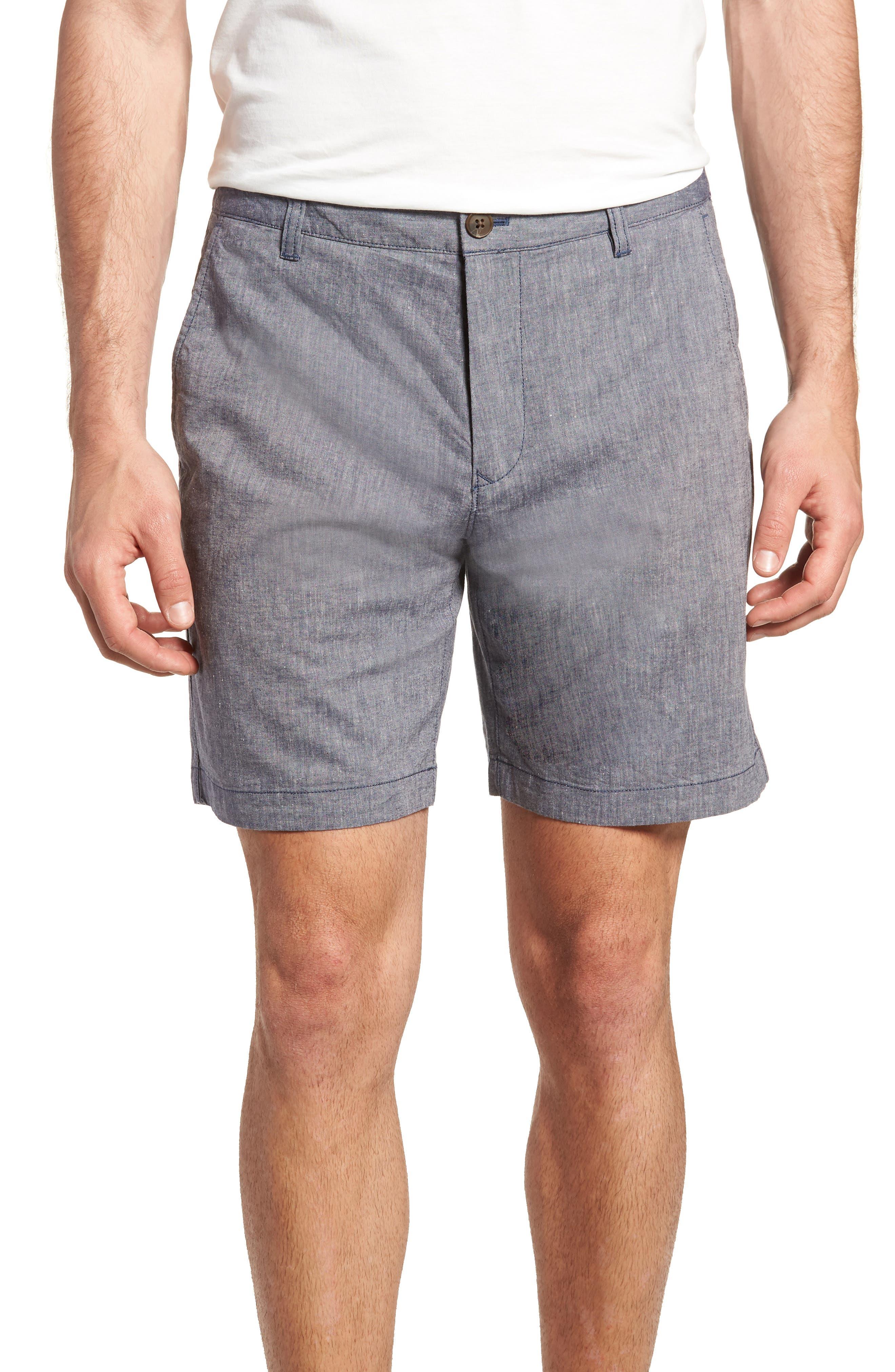Novelty Chino Shorts,                         Main,                         color, Grey Chambray