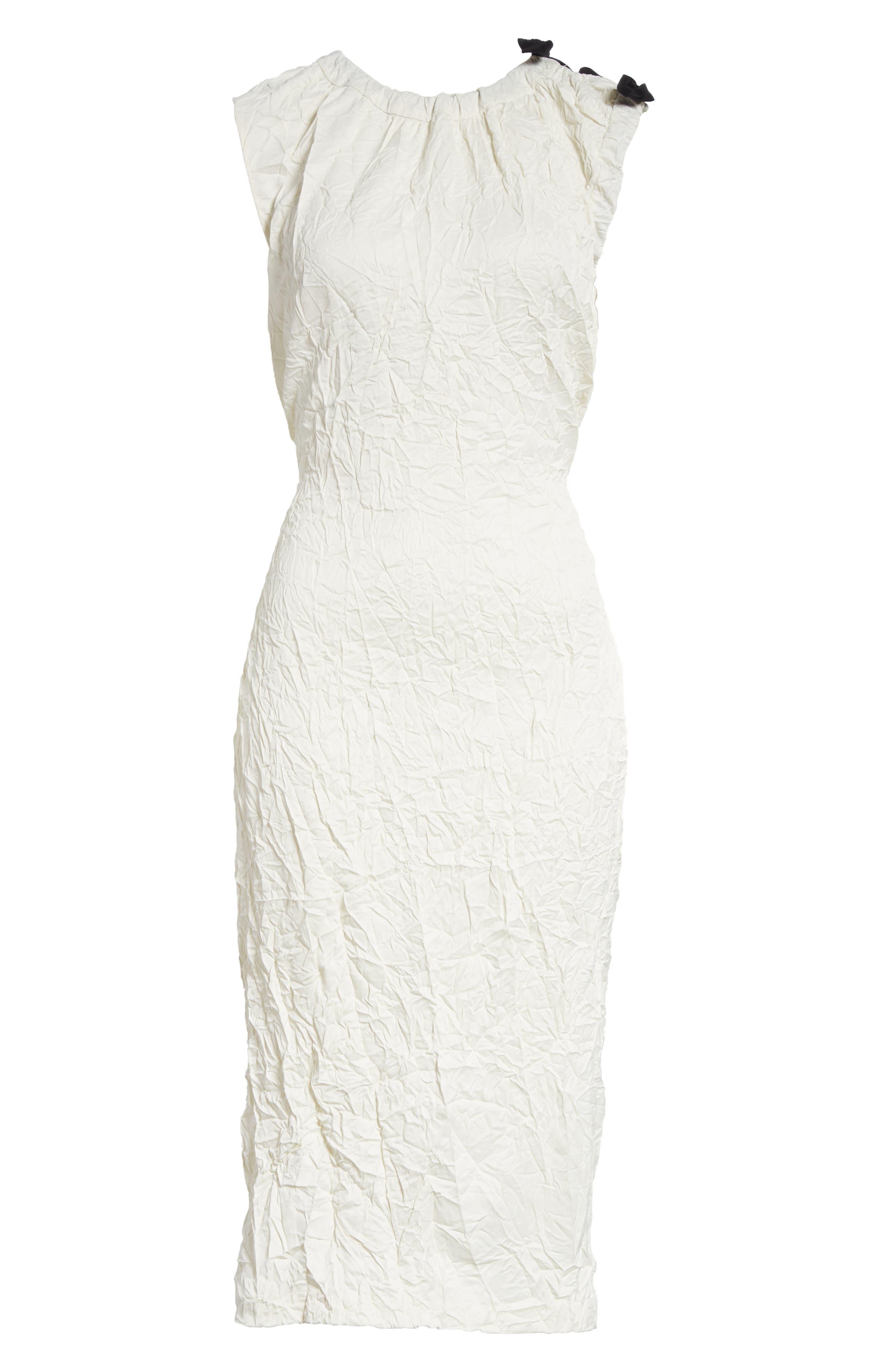 Cutout Drawstring Dress,                             Alternate thumbnail 6, color,                             Oyster
