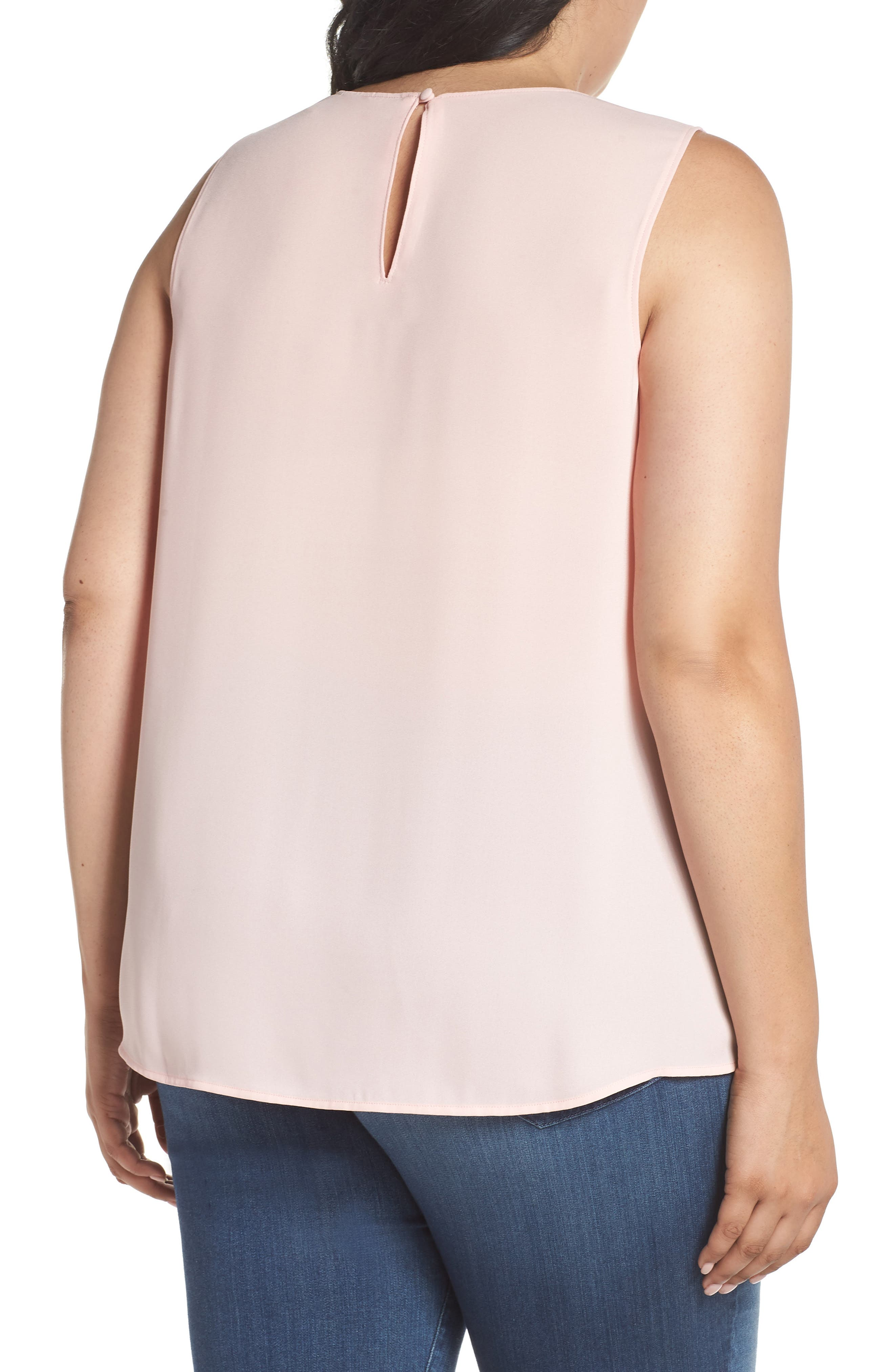Ruffle Front Tank,                             Alternate thumbnail 2, color,                             Pink Silver