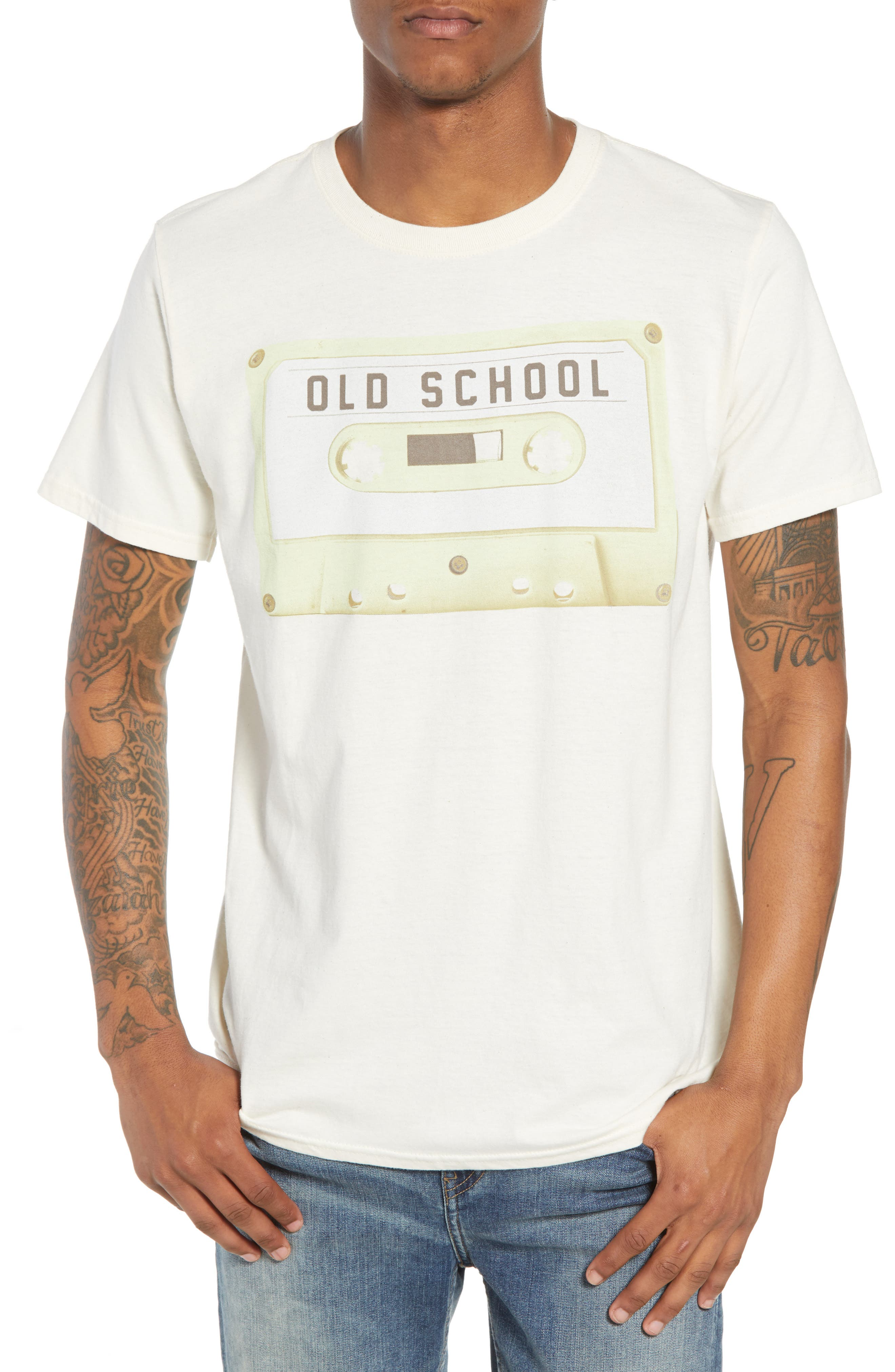 Old School T-Shirt,                             Main thumbnail 1, color,                             Ivory Old School
