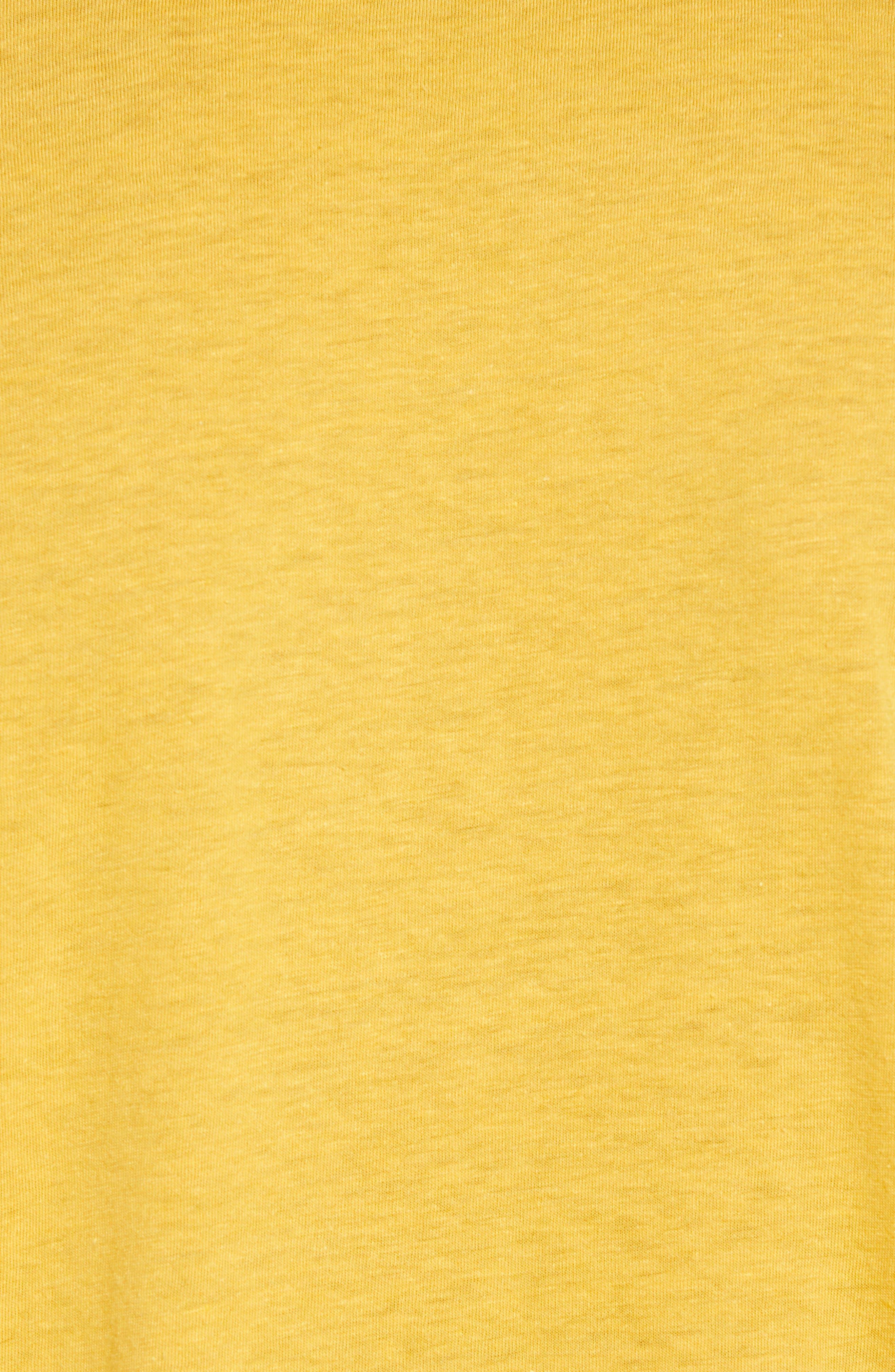 Vintage Athletic V-Neck T-Shirt,                             Alternate thumbnail 5, color,                             Yellow Mineral / White Stripe