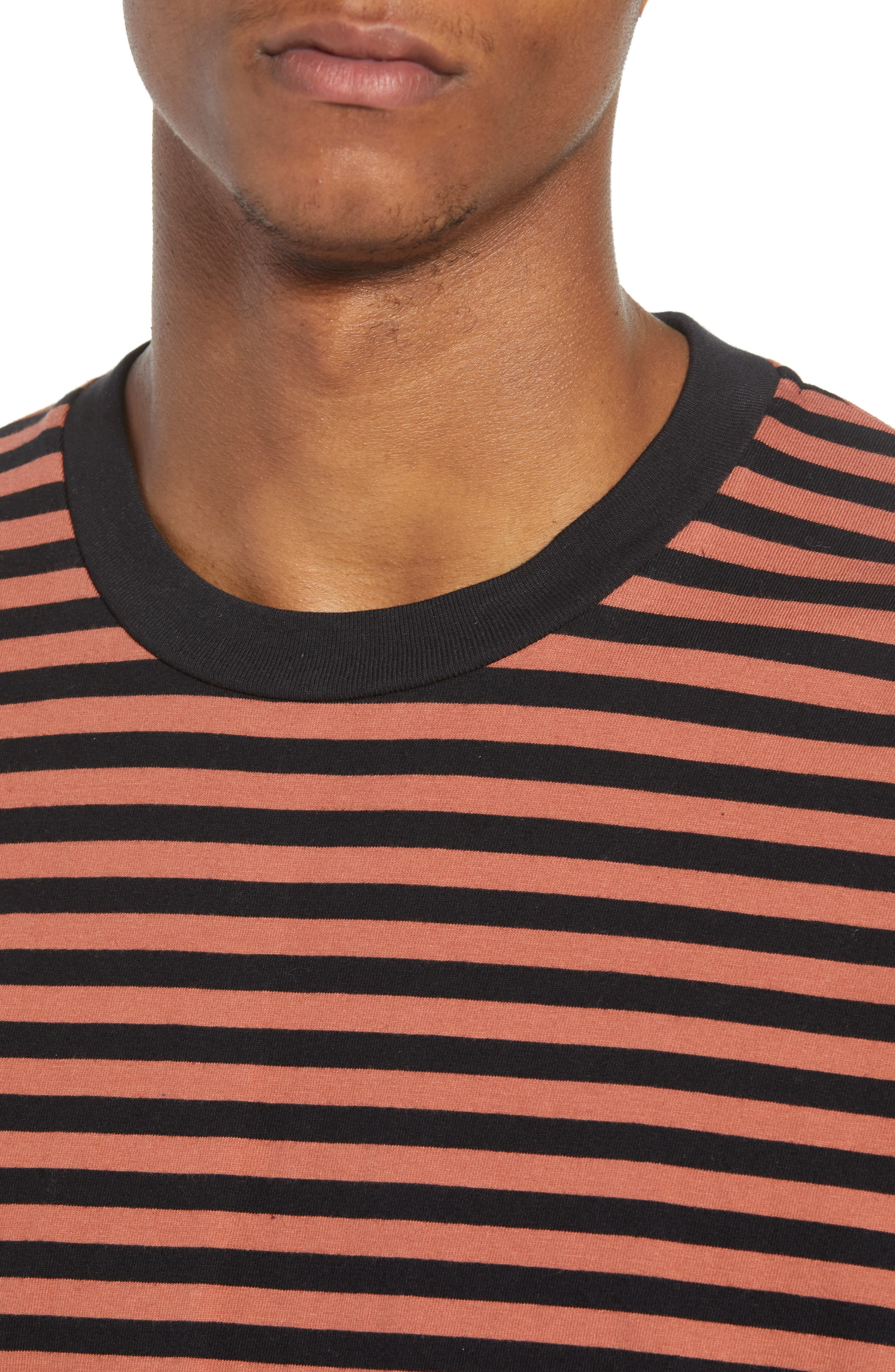 ZABEROBE Stripe Box T-Shirt,                             Alternate thumbnail 4, color,                             Bronze/ Black
