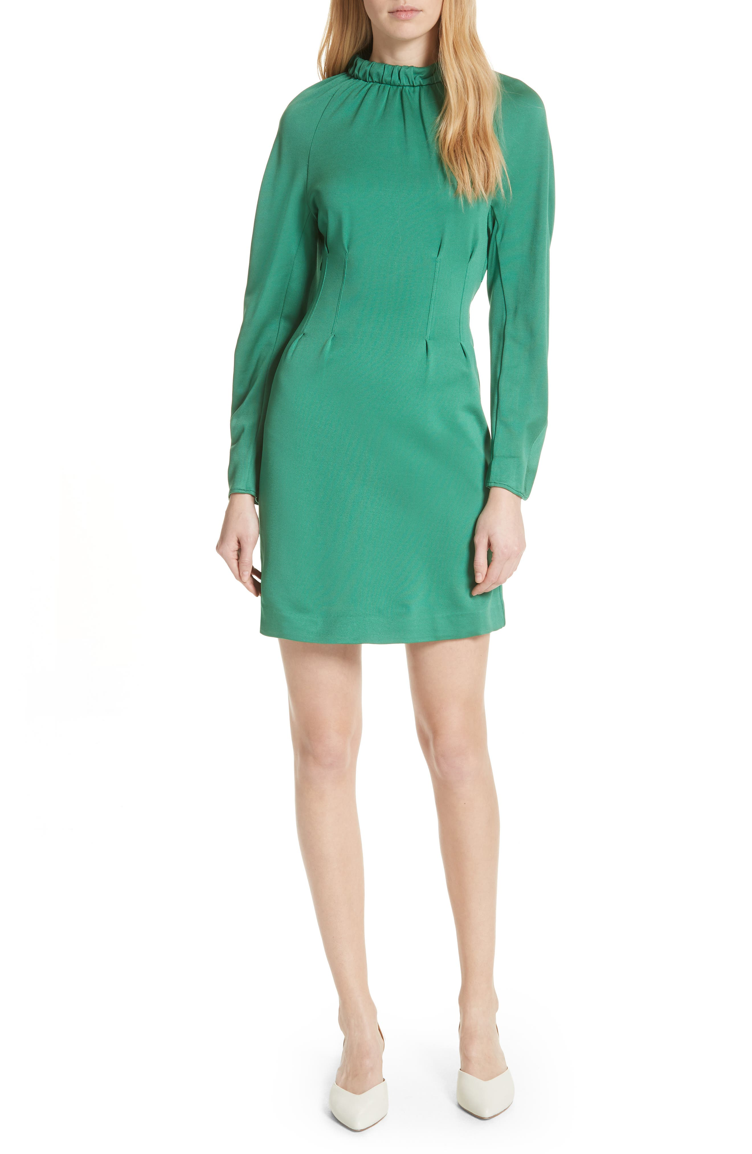 Astor Knit Sheath Dress,                             Main thumbnail 1, color,                             Green