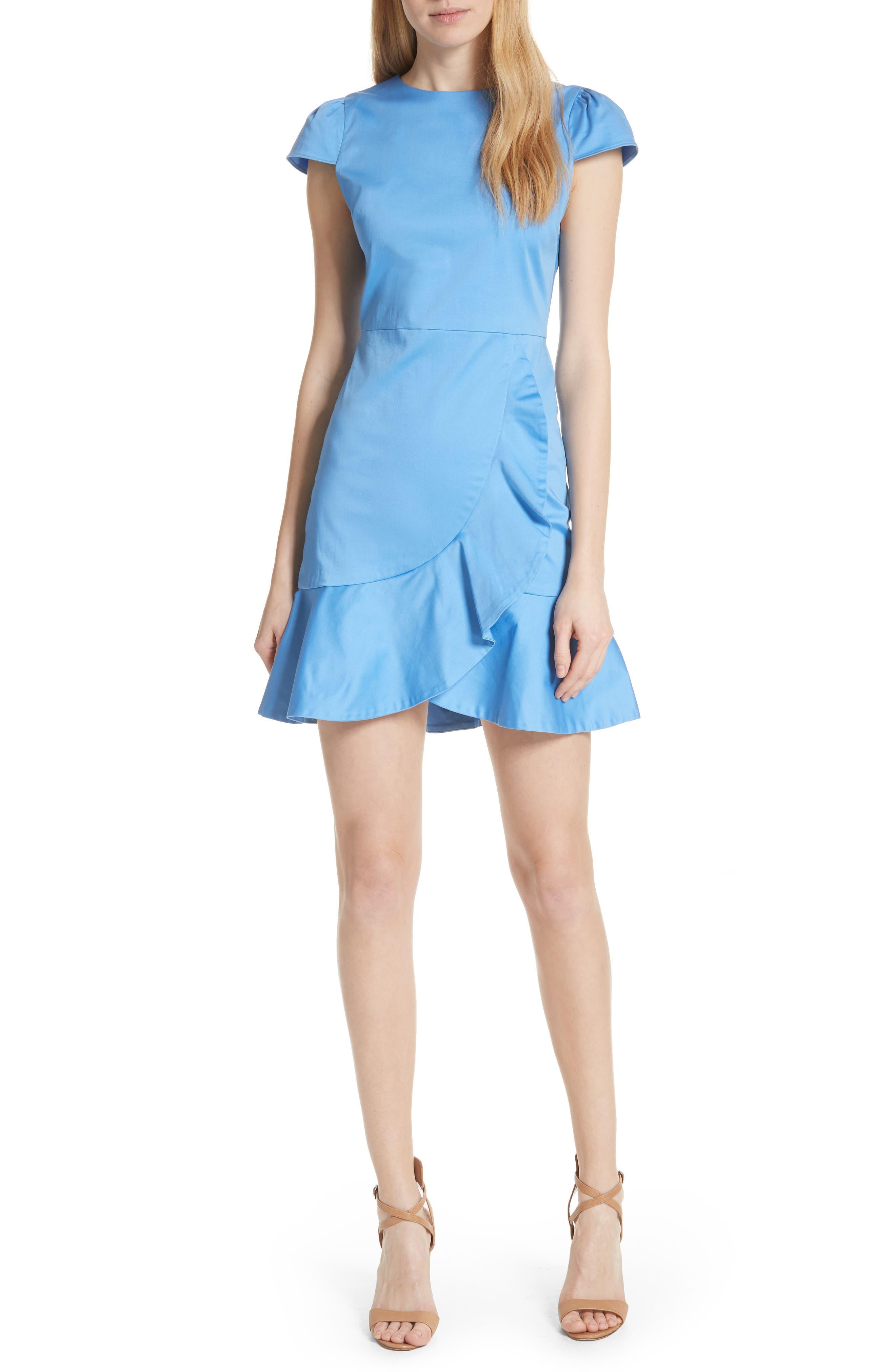 Alice + Olivia Kirby Ruffle Faux Wrap Dress