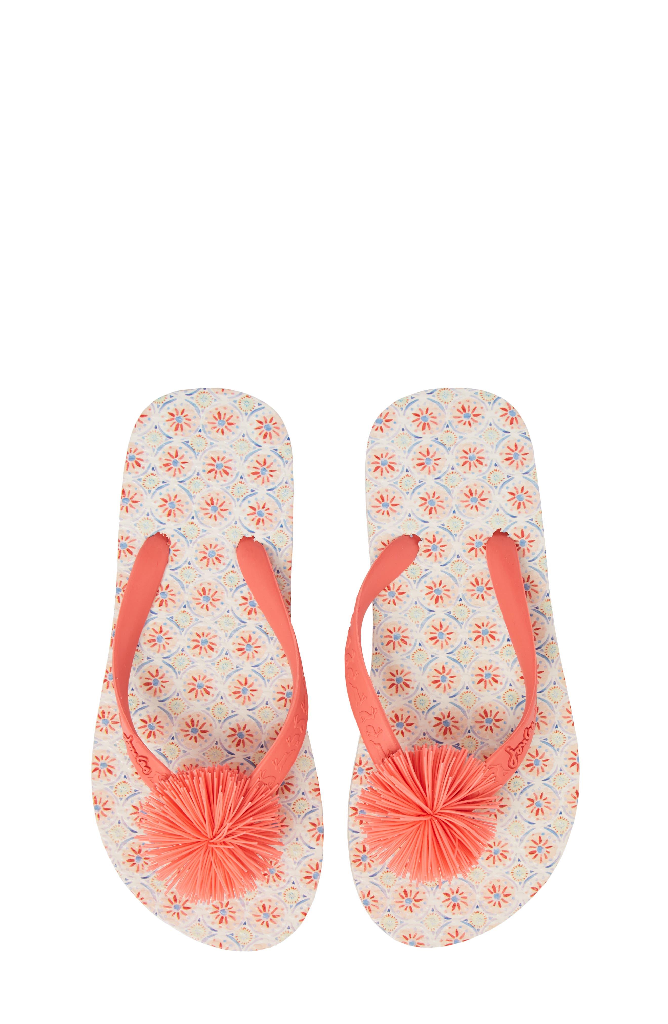 Flip Flop,                             Main thumbnail 1, color,                             Cream Summer Mosaic