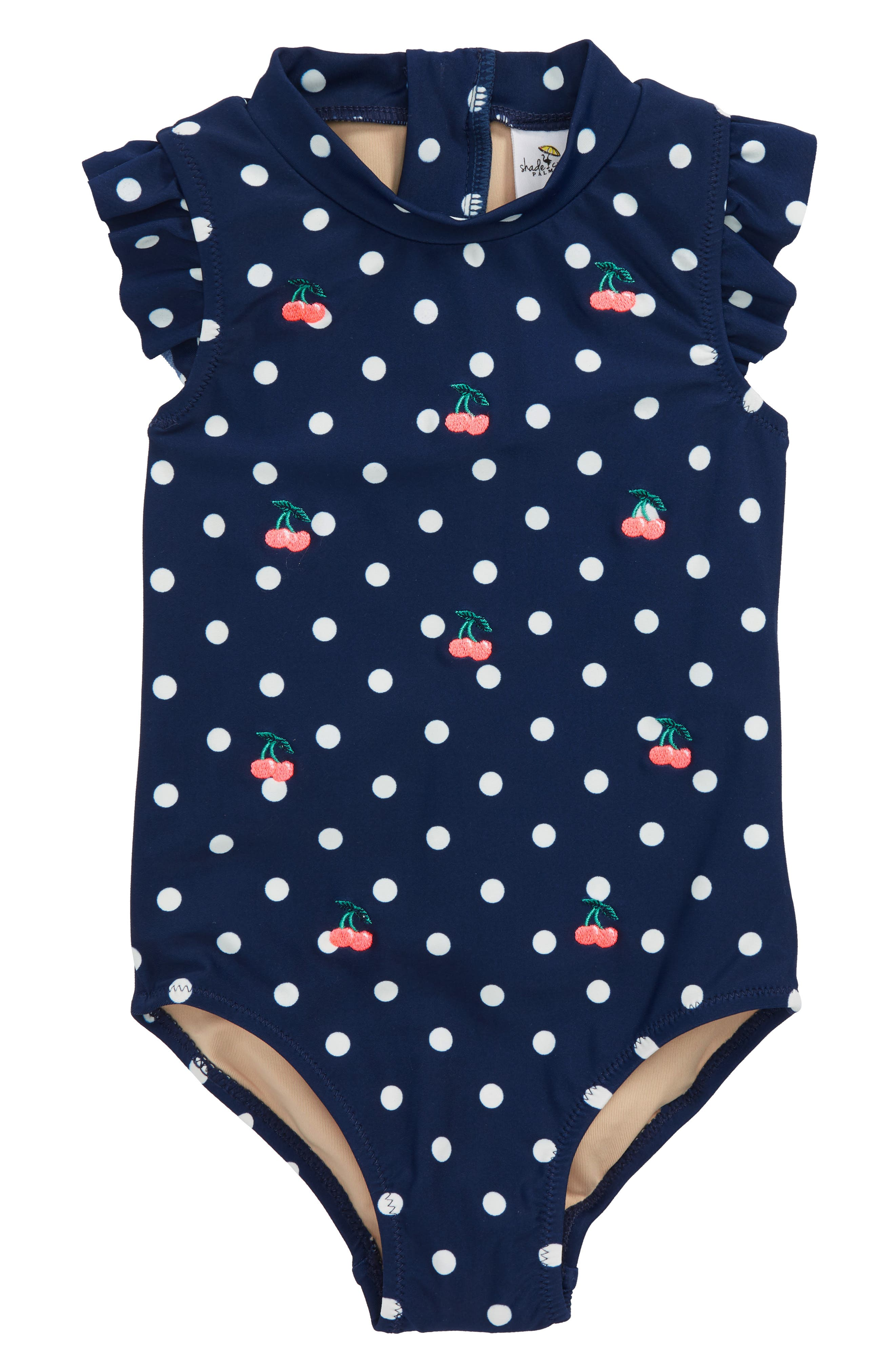 Shade Critters Embroidered Bing Cherry Dot One-Piece Swimsuit (Toddler Girls & Little Girls)