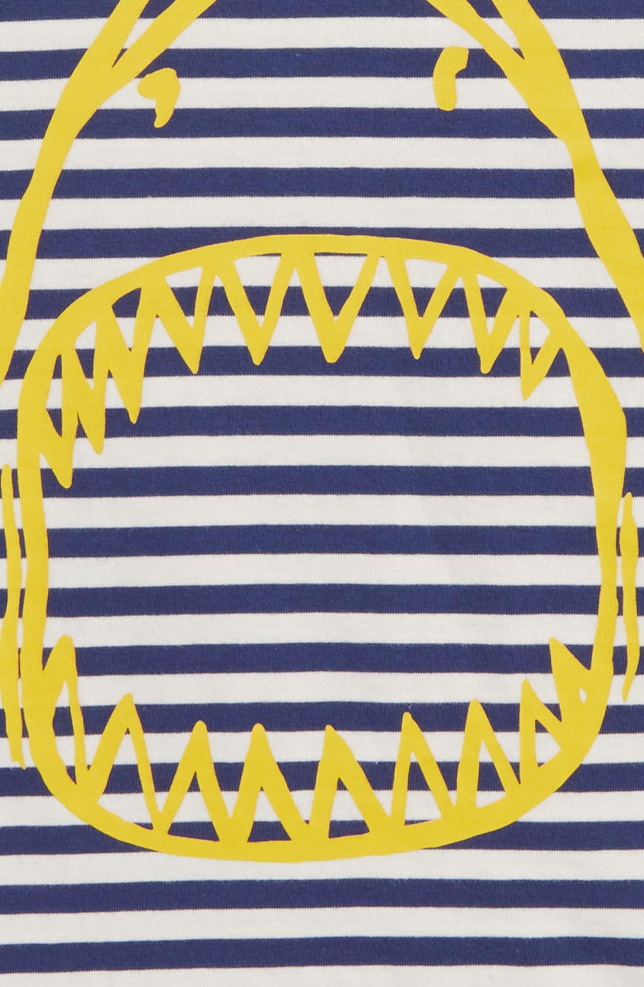 Arty Shark T-Shirt,                             Alternate thumbnail 2, color,                             Beacon Blue/ Ecru Shark